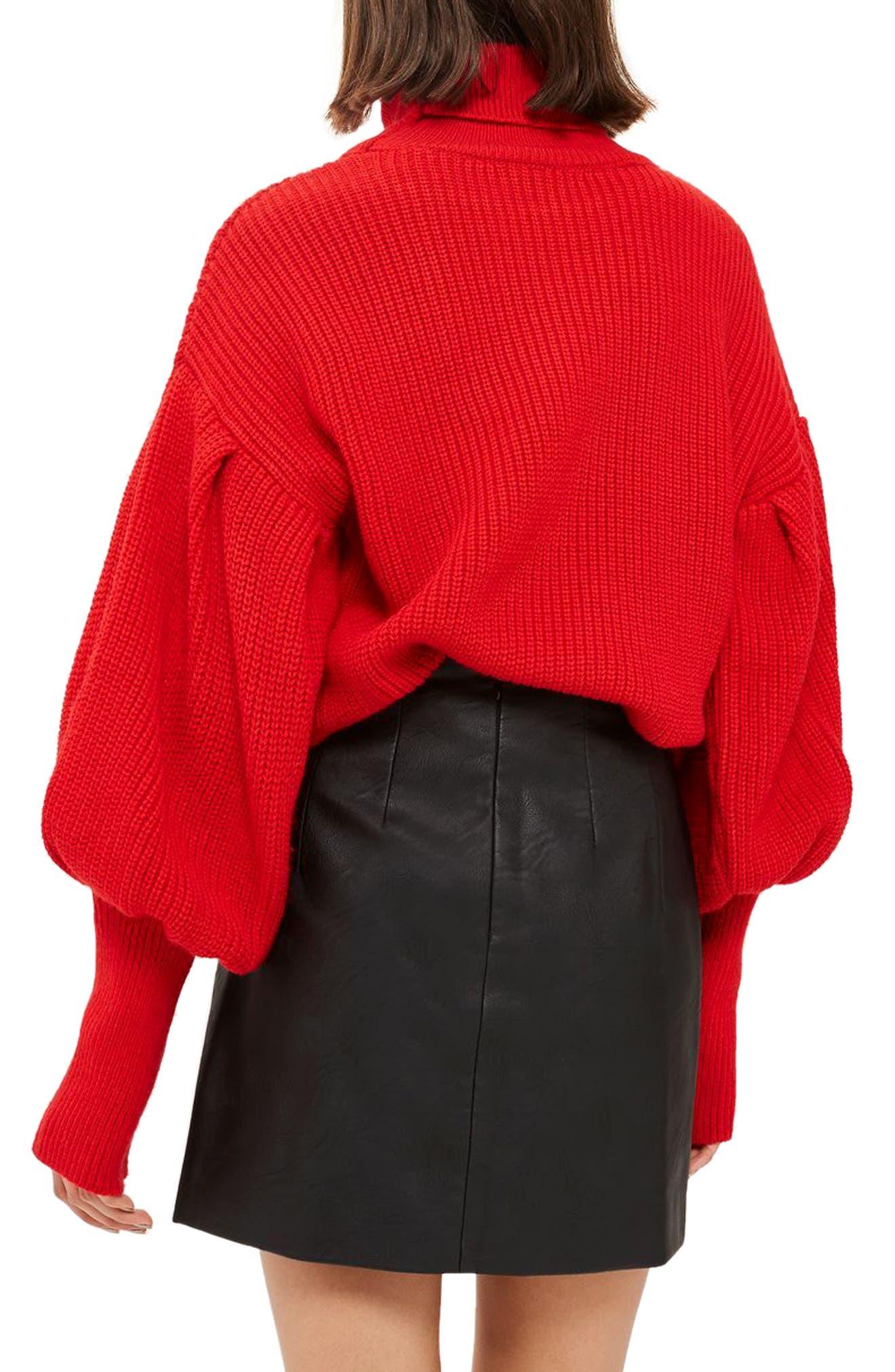 Faux Leather Pencil Miniskirt,                             Alternate thumbnail 2, color,                             001
