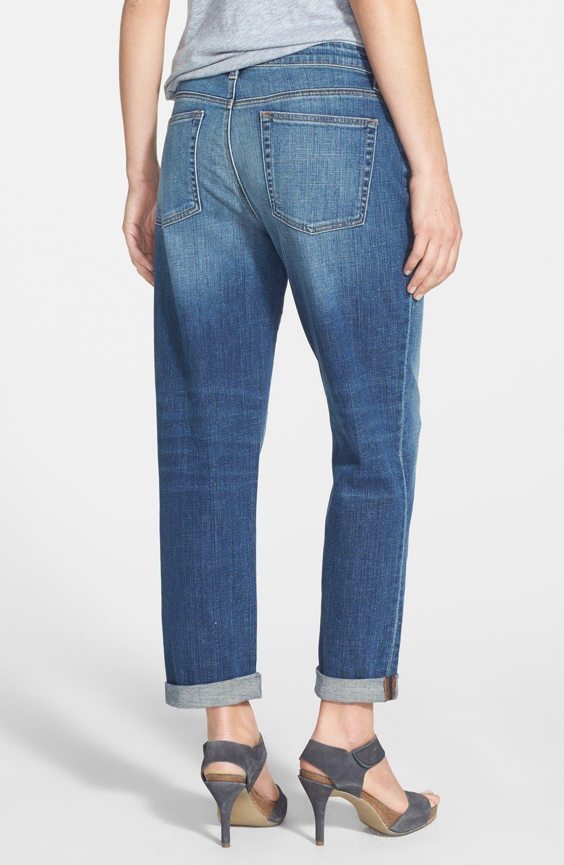 Organic Cotton Boyfriend Jeans,                             Alternate thumbnail 8, color,                             400