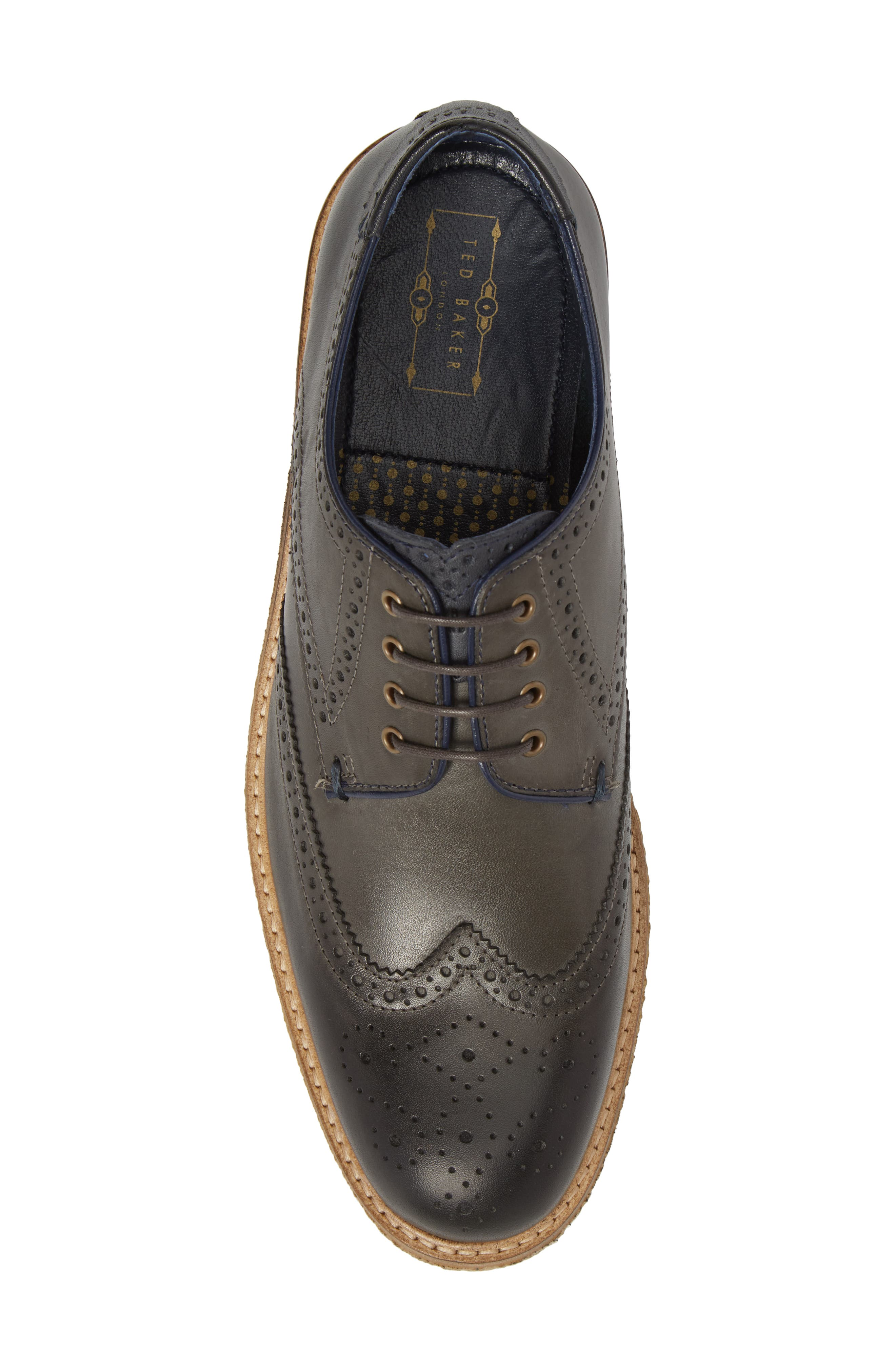 TED BAKER LONDON,                             Prycce Wingtip Derby,                             Alternate thumbnail 5, color,                             031