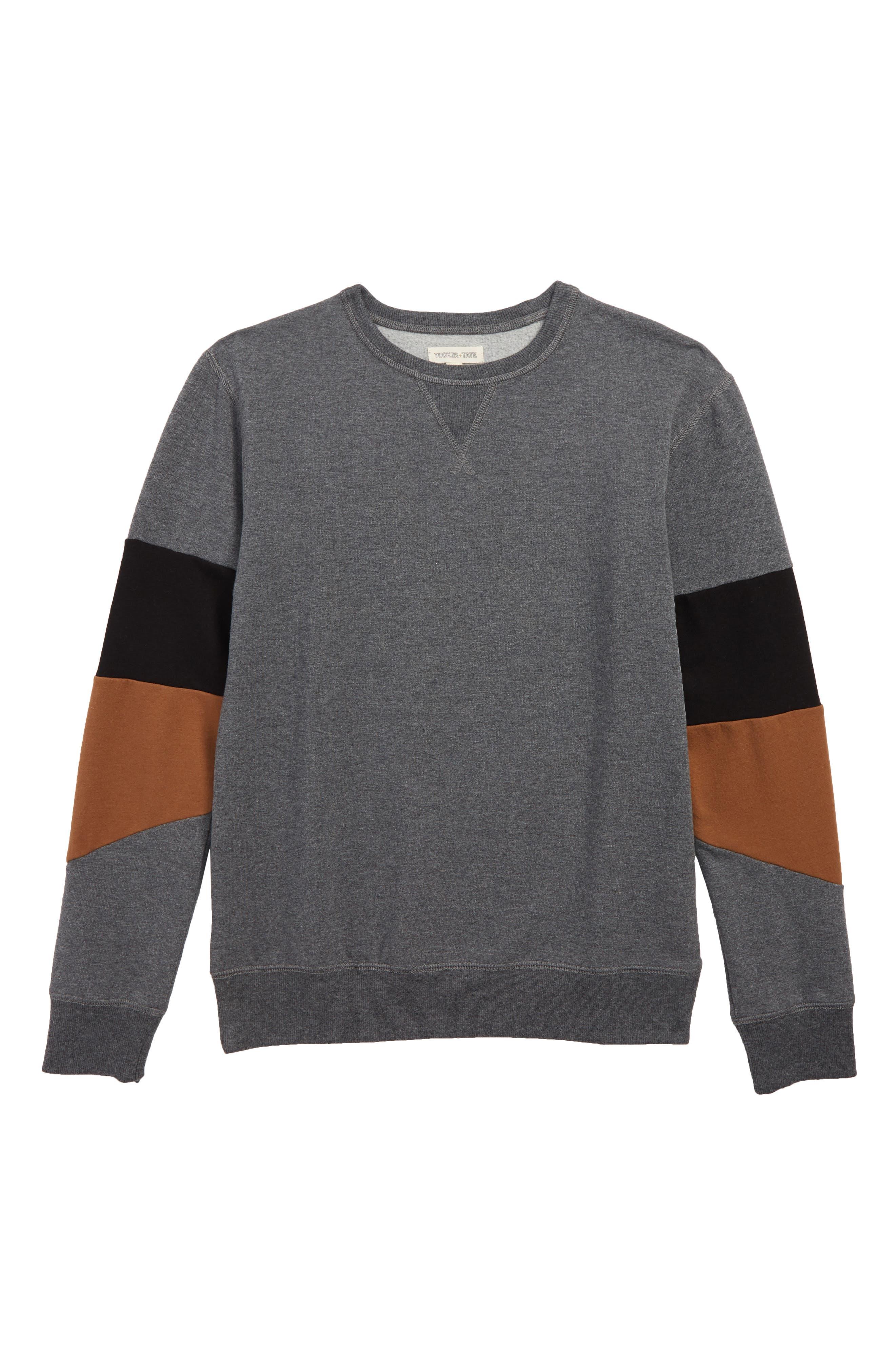 Block Sleeve Sweatshirt,                             Main thumbnail 1, color,                             030