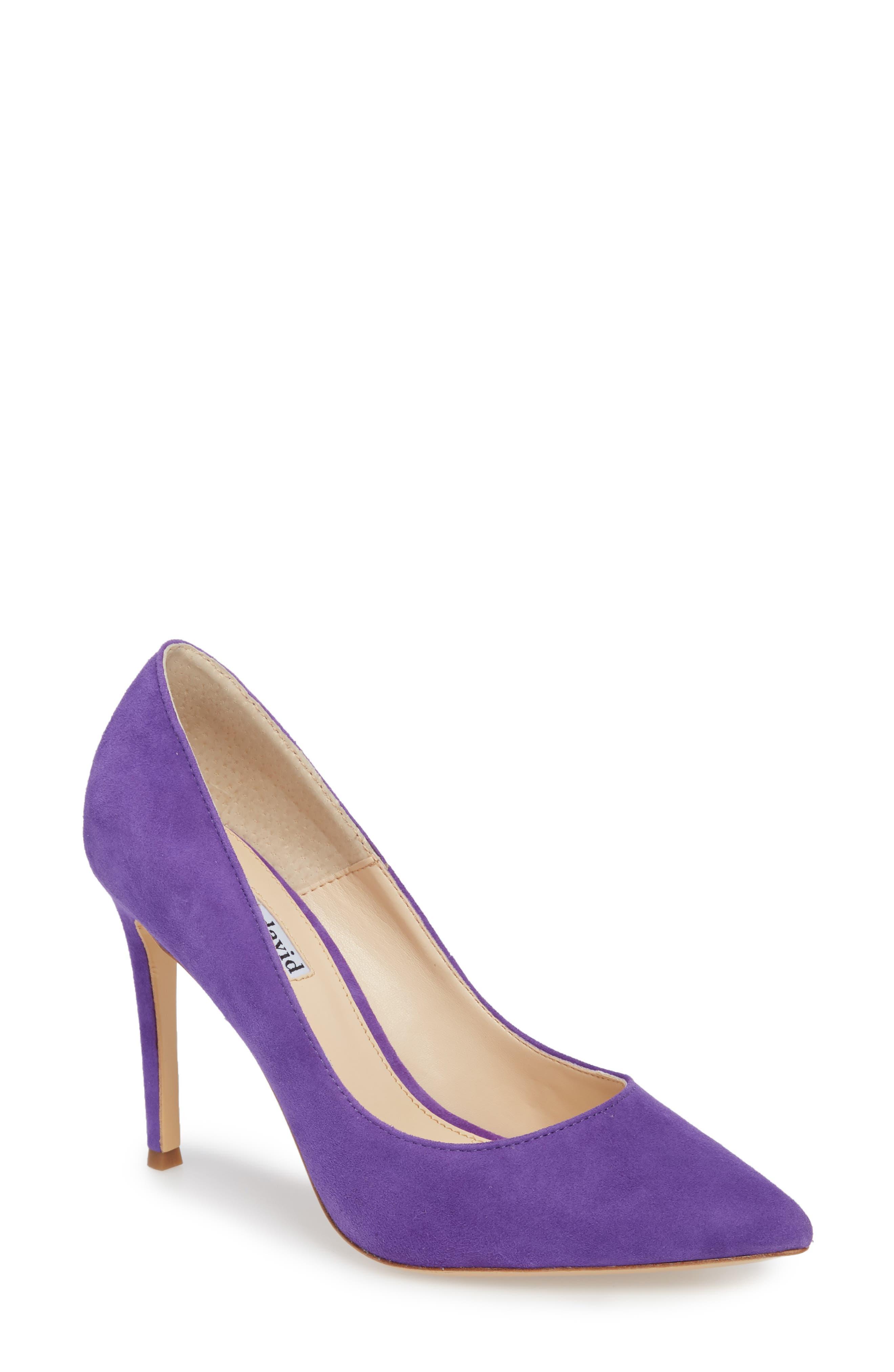 Charles David Calessi Pointy Toe Pump- Purple