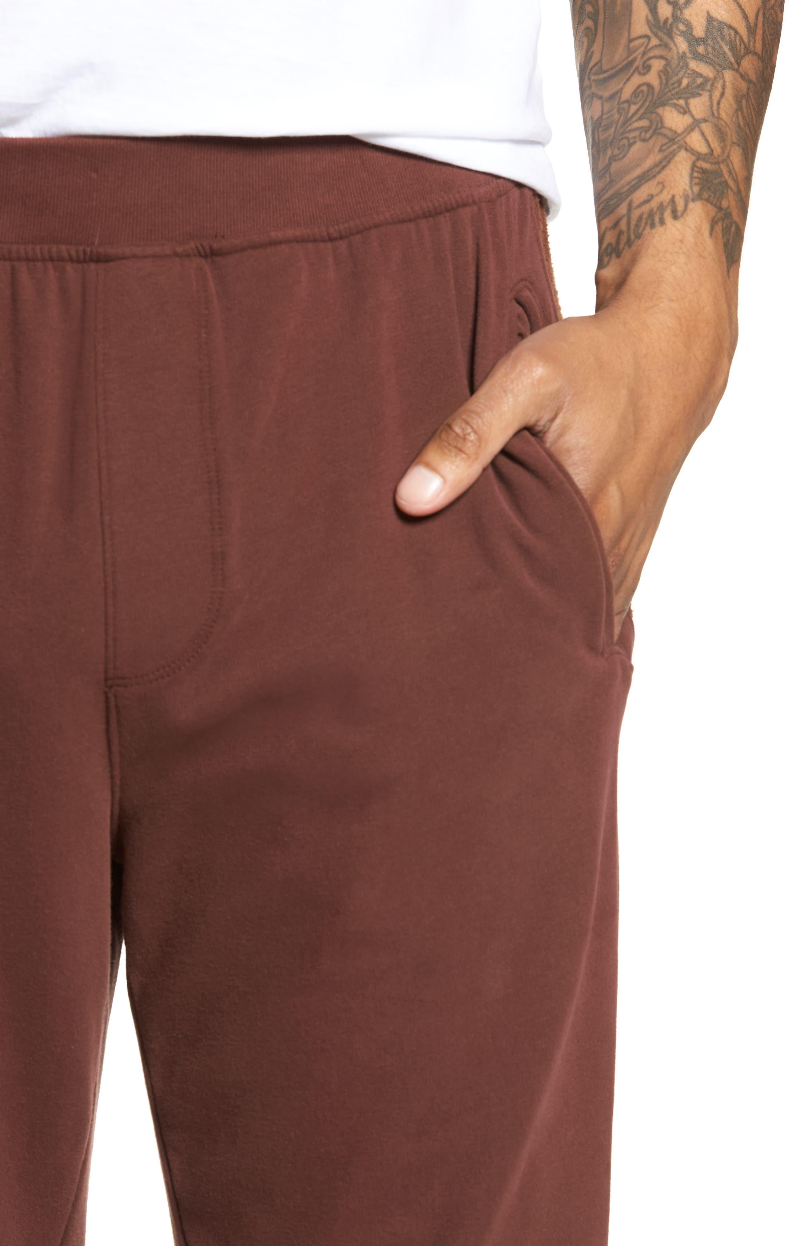 Slim Fit Sweatpants,                             Alternate thumbnail 4, color,                             WINE