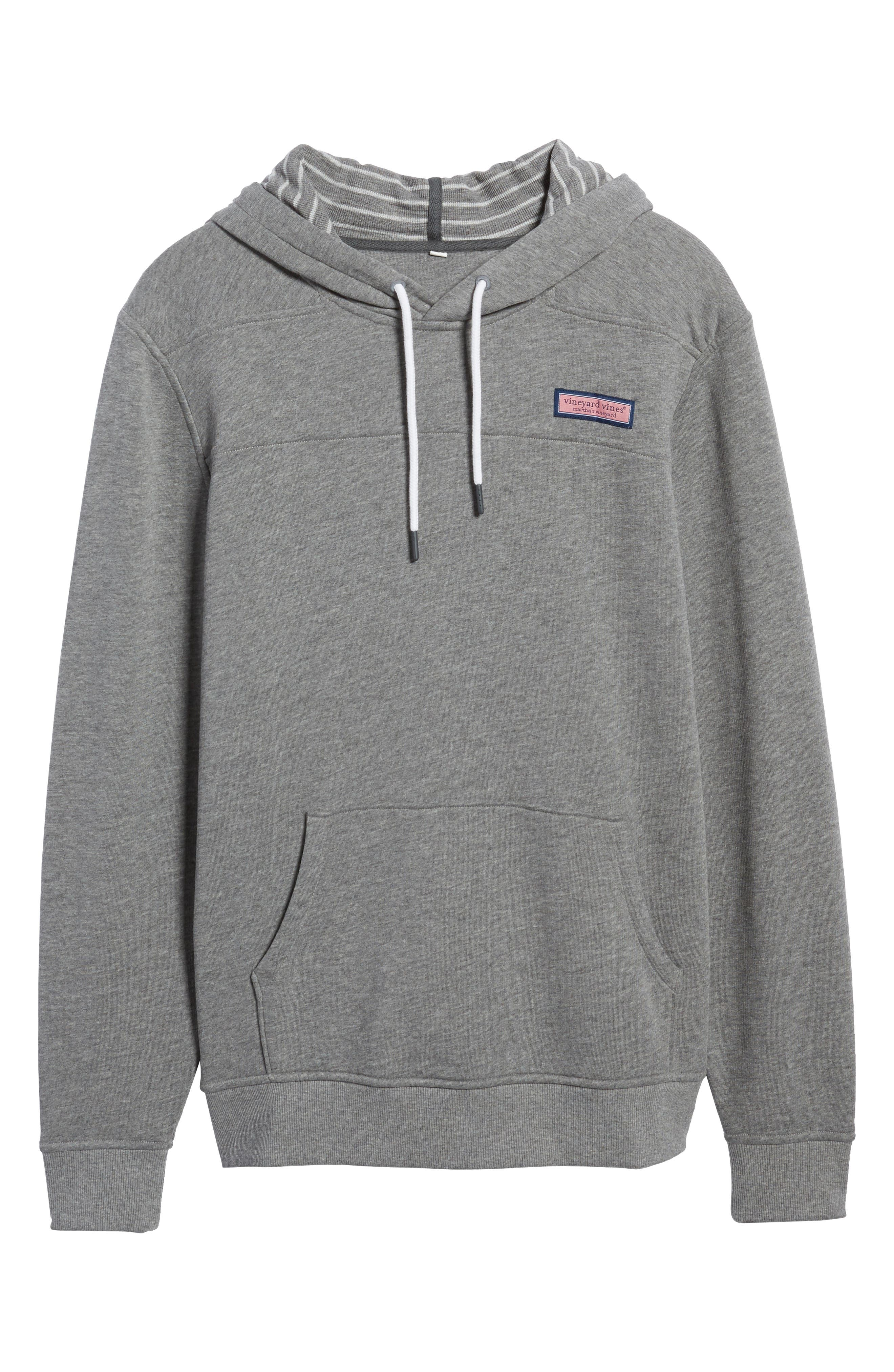 Washed Cotton Pullover Hoodie,                             Alternate thumbnail 6, color,                             030