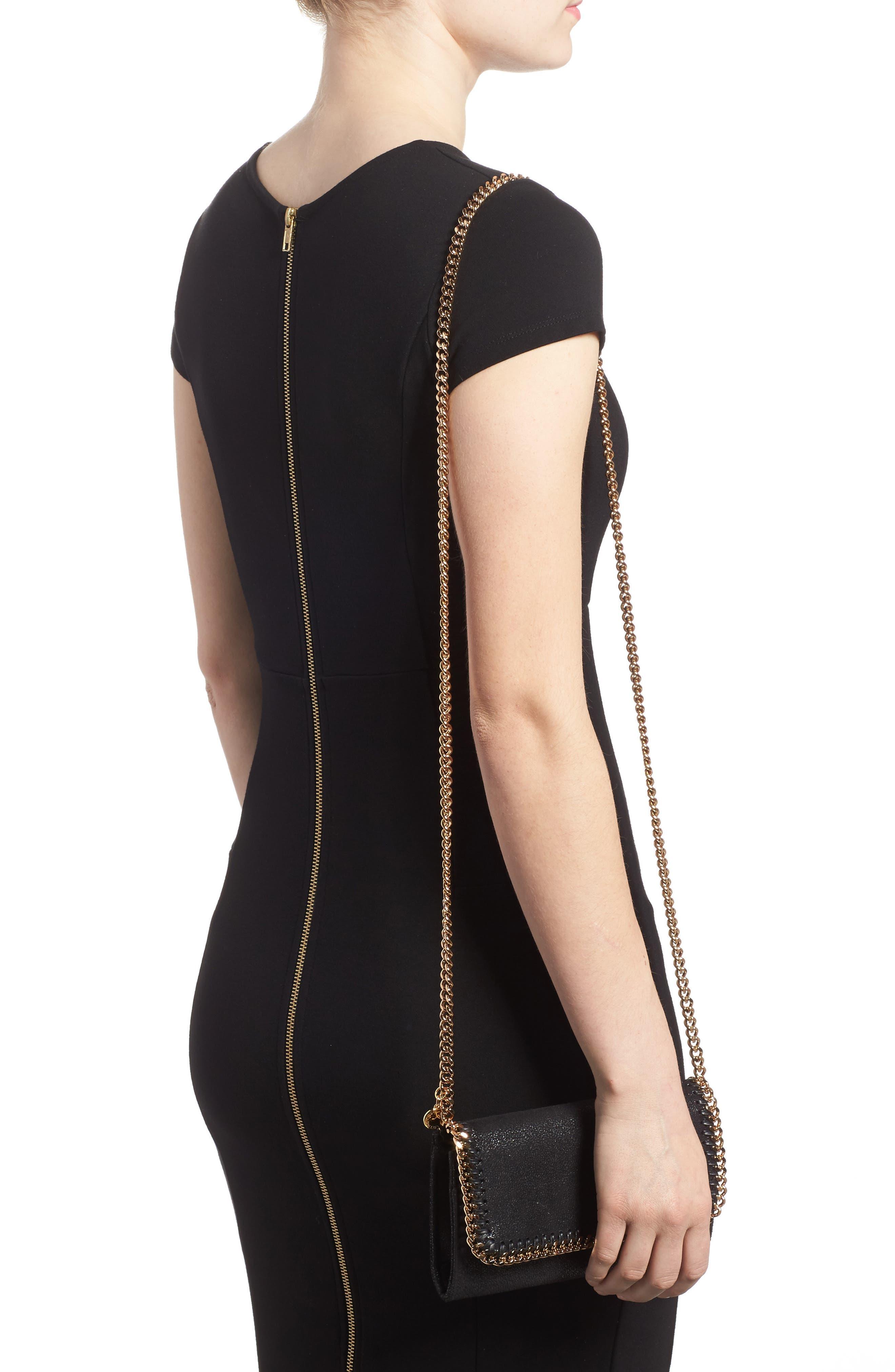 Shaggy Deer Faux Leather Crossbody Bag,                             Alternate thumbnail 2, color,                             BLACK