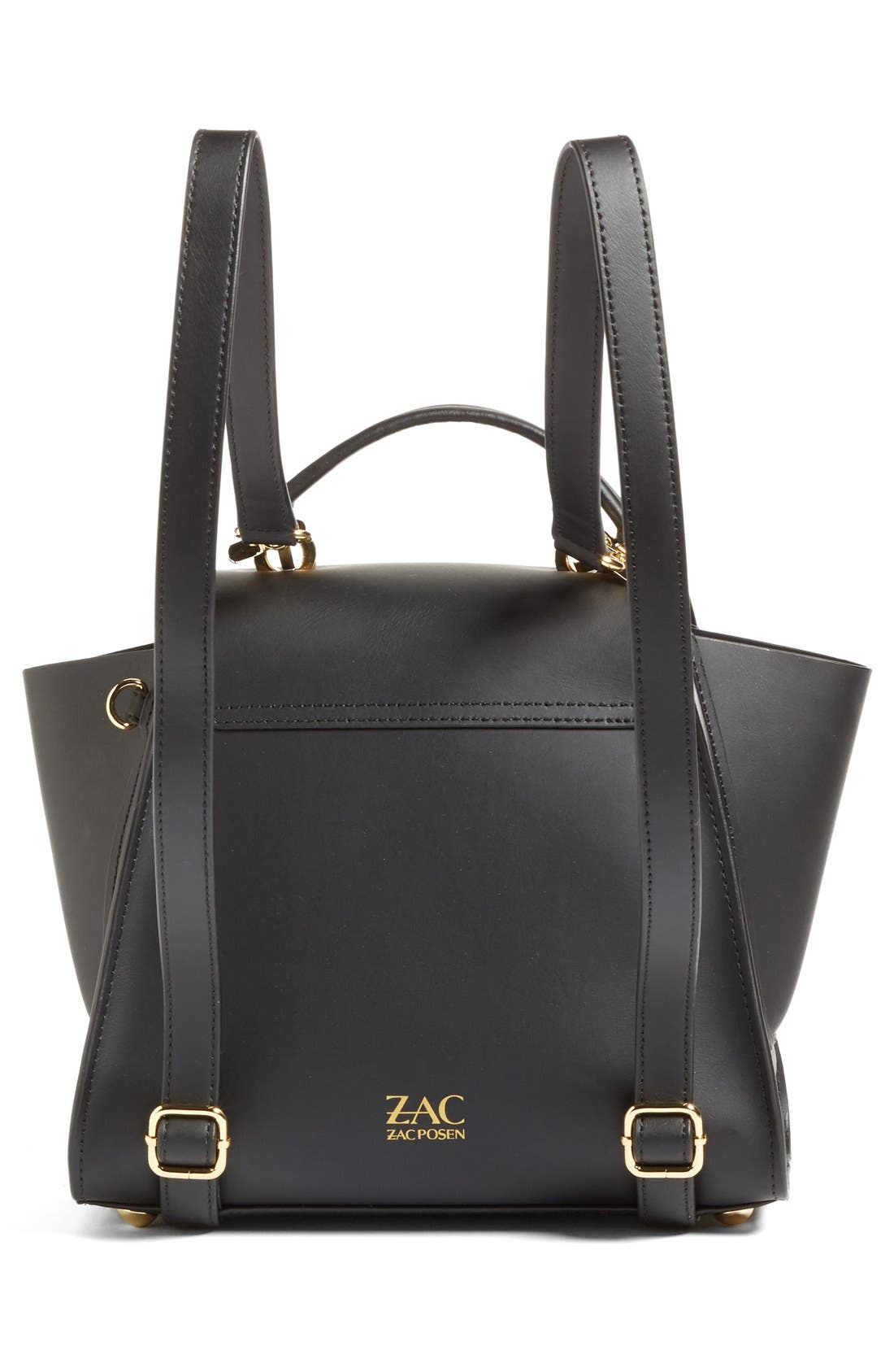 'Eartha Iconic' Leather Backpack,                             Alternate thumbnail 6, color,