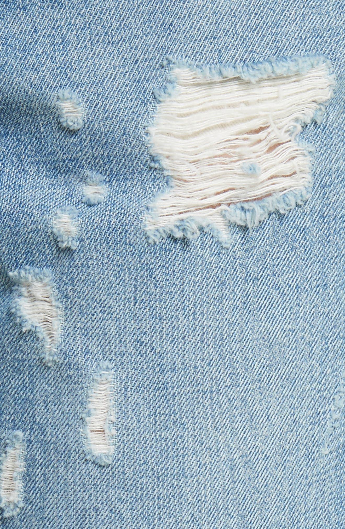 Mila Slim Girlfriend Jeans,                             Alternate thumbnail 5, color,                             450