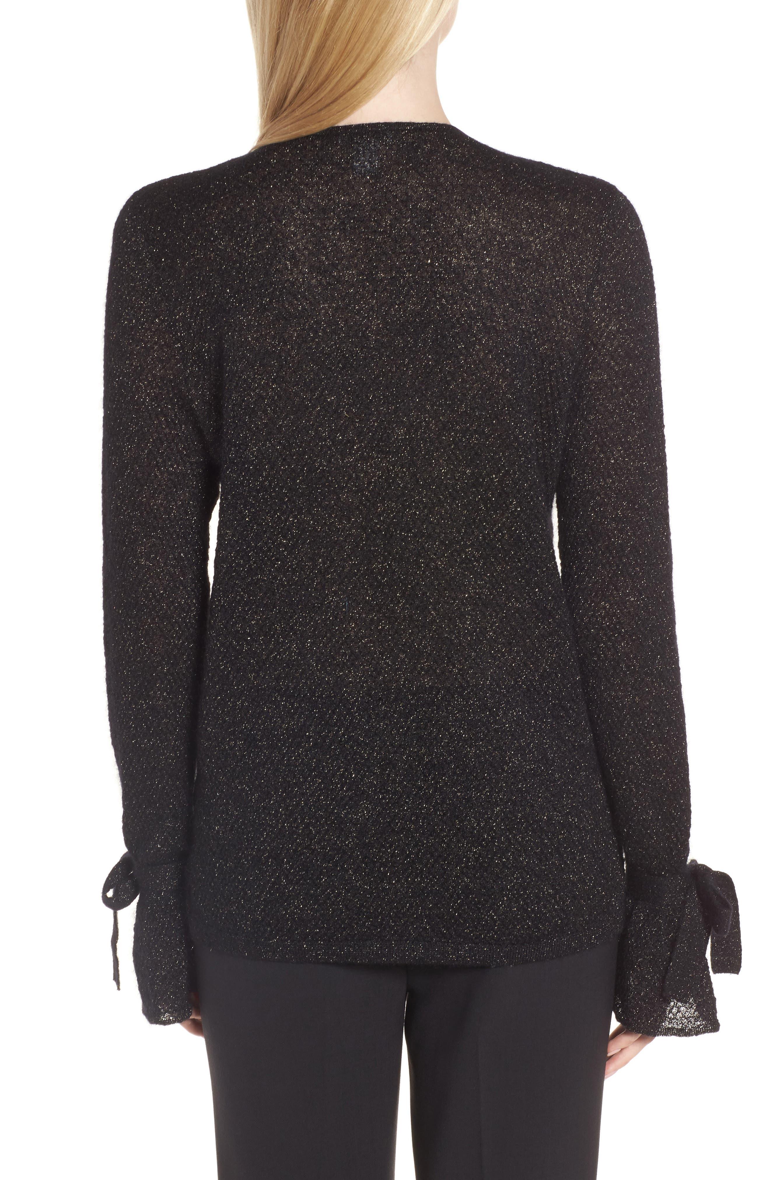 Metallic Mohair Blend Sweater,                             Alternate thumbnail 4, color,