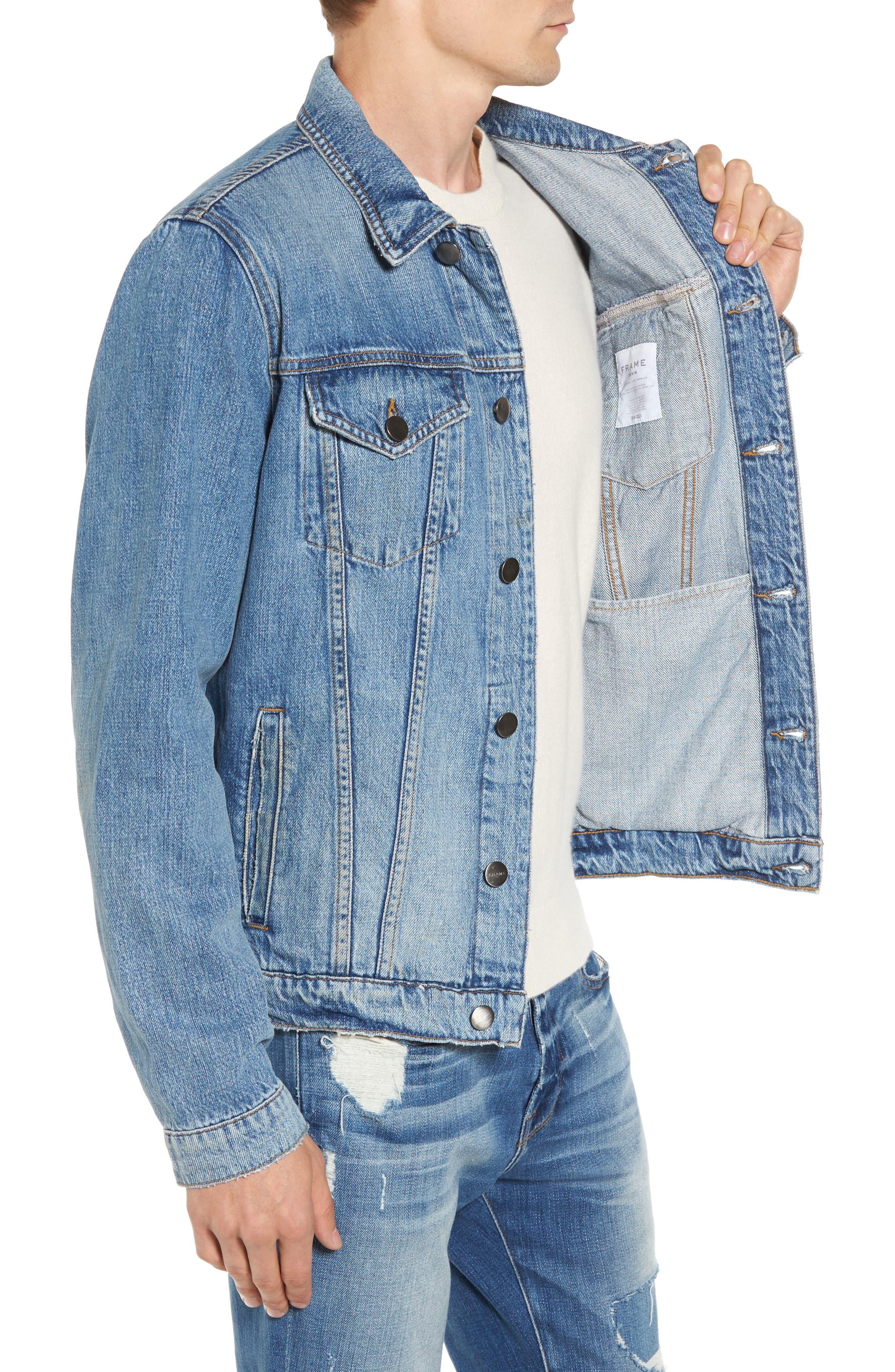 L'Homme Denim Jacket,                             Alternate thumbnail 3, color,                             450