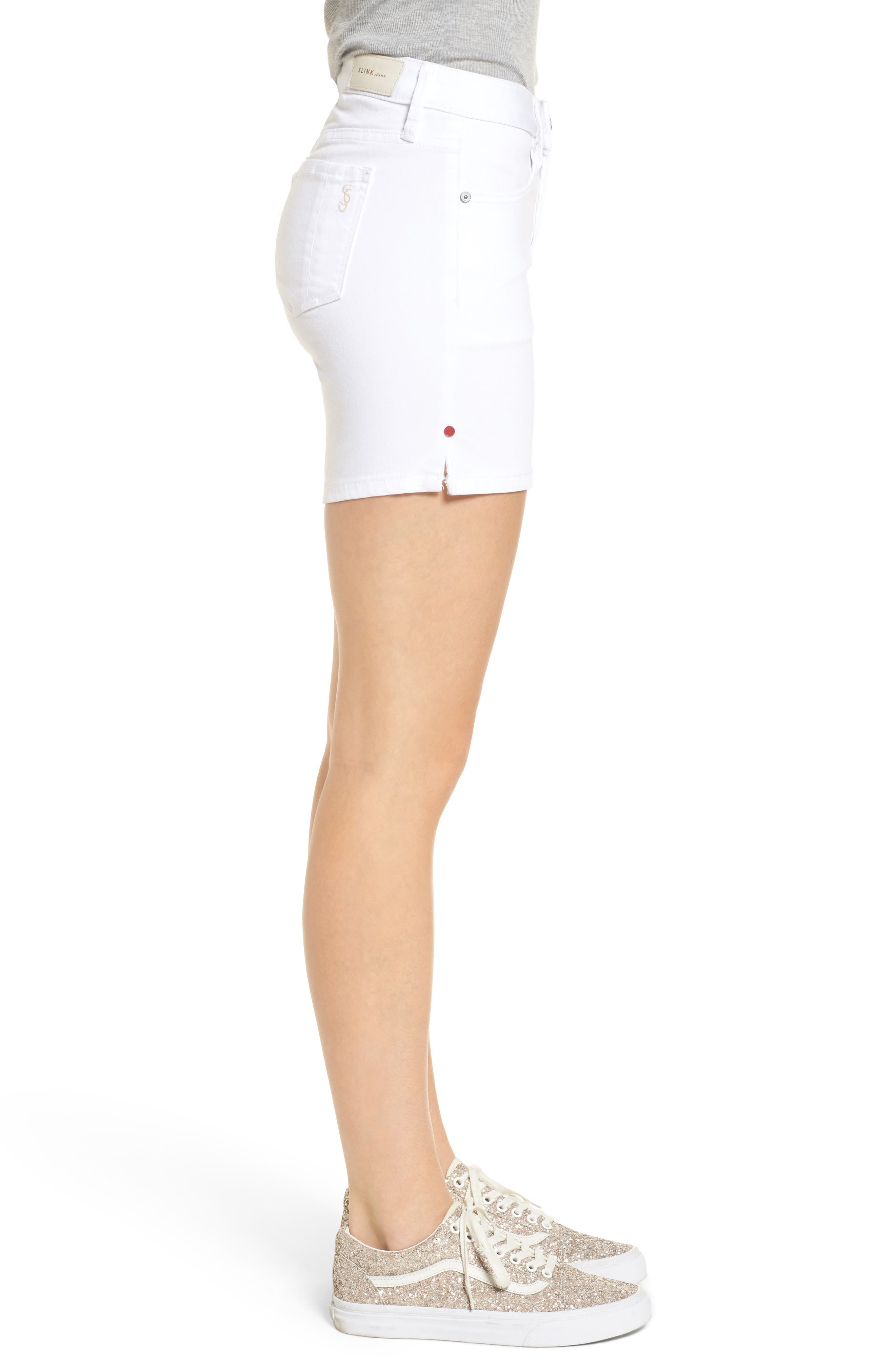 Side Vent Shorts,                             Alternate thumbnail 3, color,                             WHITE