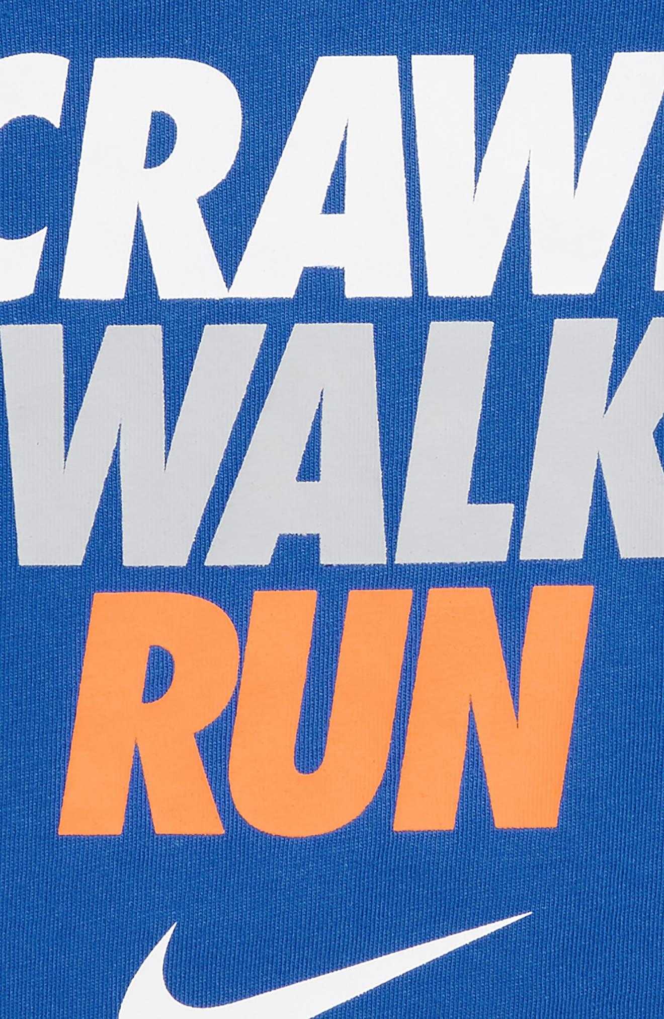 Crawl Walk Run Bodysuit,                             Alternate thumbnail 2, color,                             422