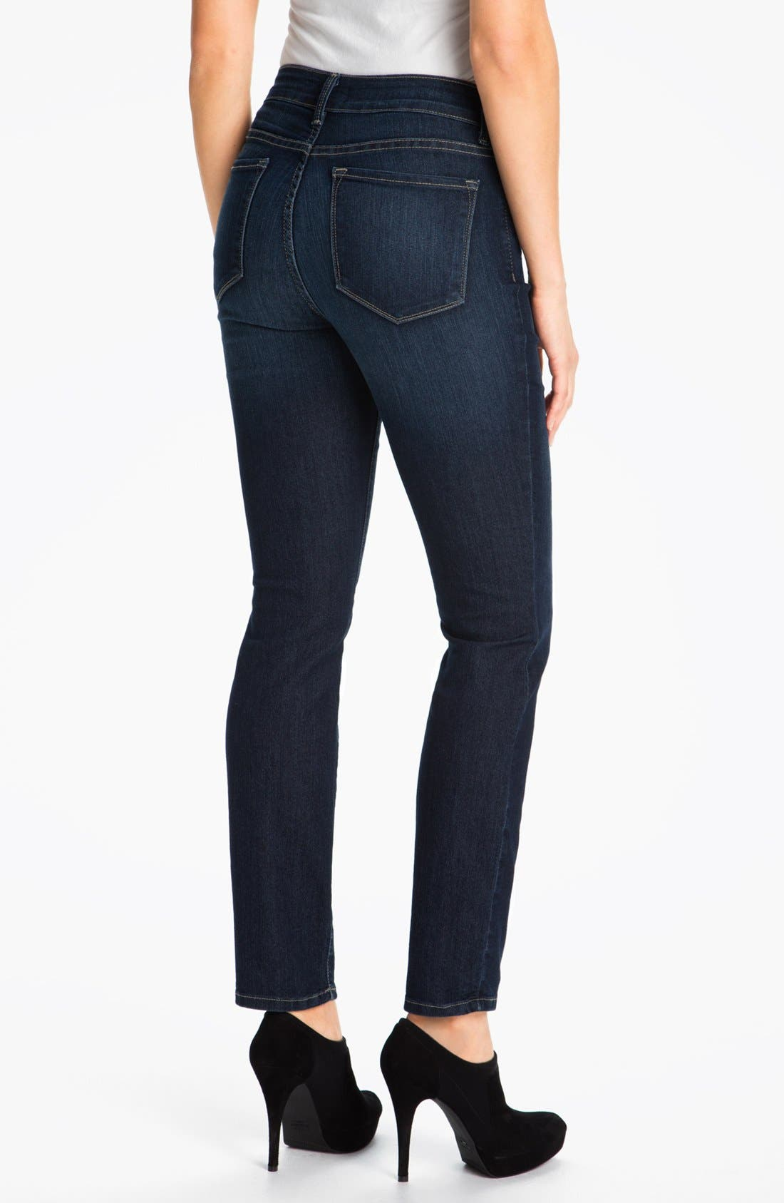 'Alina' Stretch Skinny Jeans,                             Alternate thumbnail 5, color,                             425