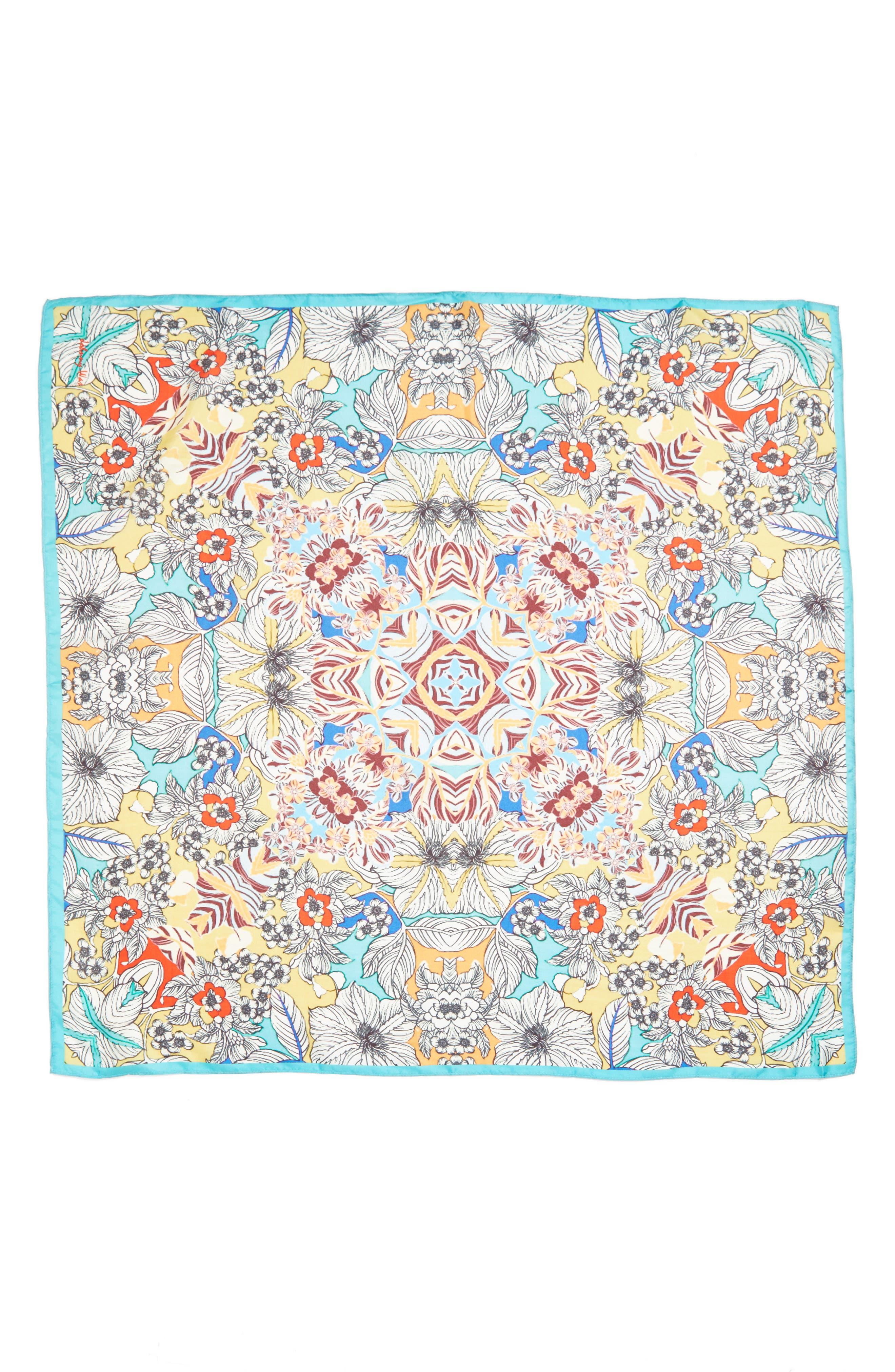 Maitri Silk Square Scarf,                             Alternate thumbnail 3, color,                             400