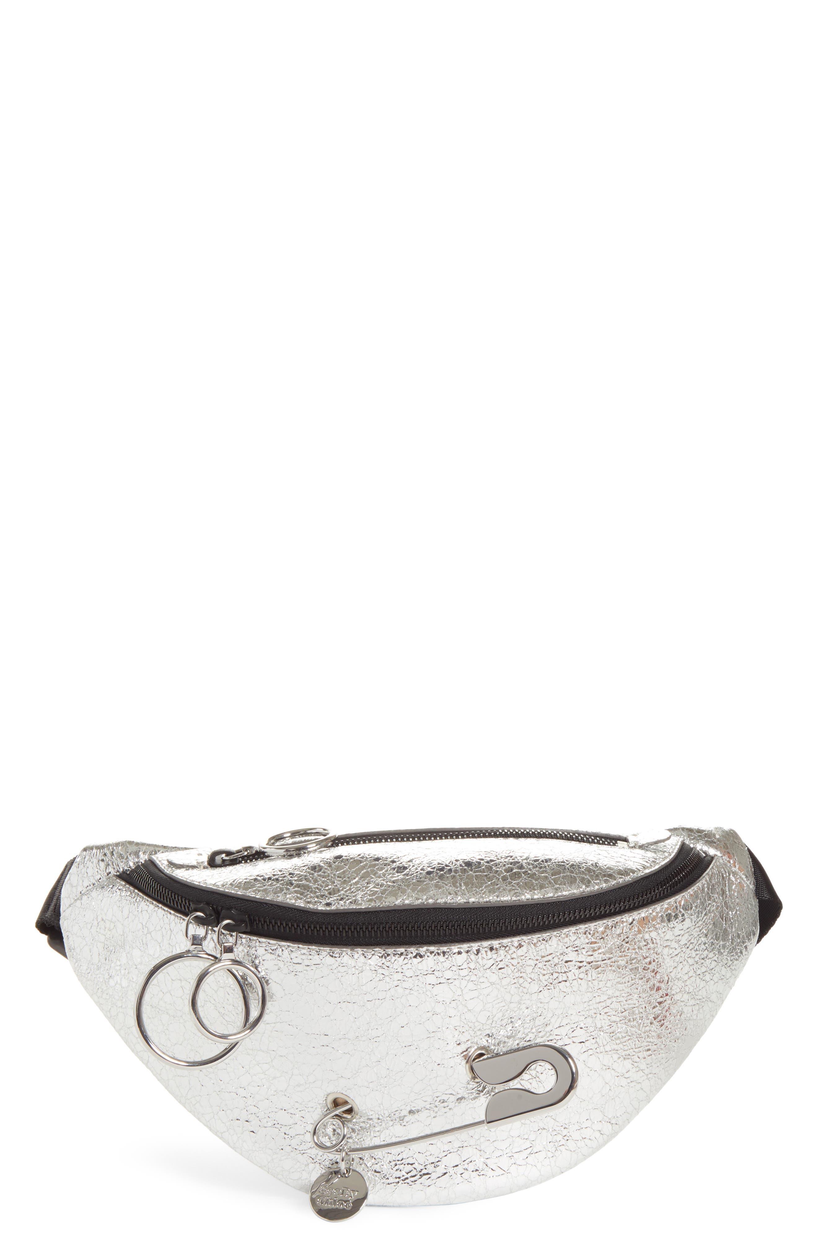 See By Chloe Mindy Metallic Leather Belt Bag - Metallic