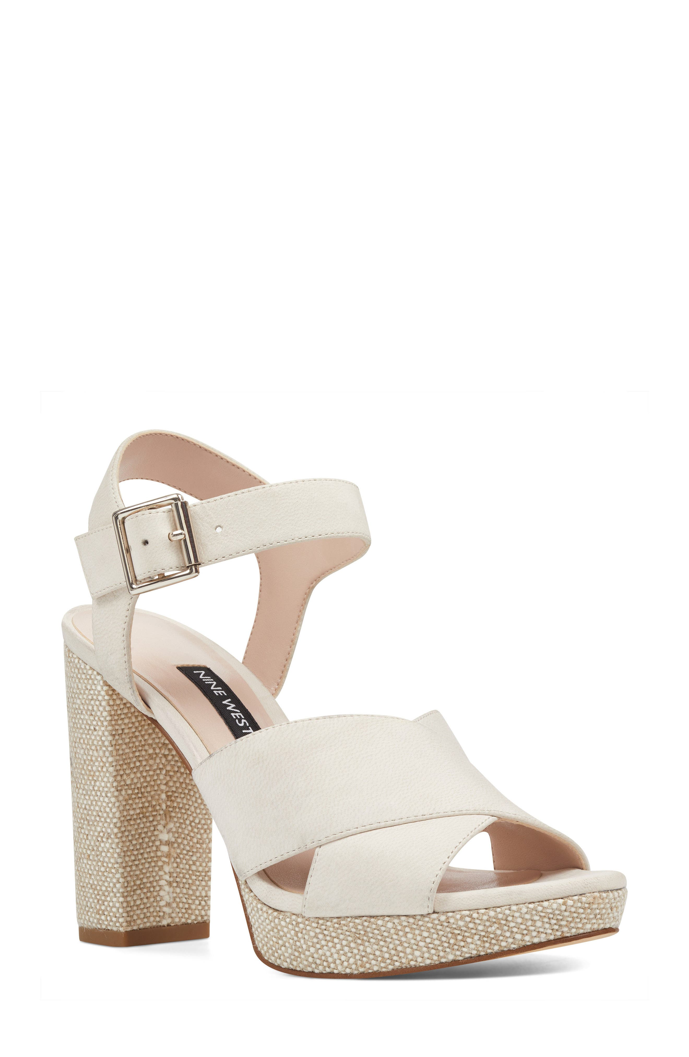Jimar Platform Sandal,                         Main,                         color, 100