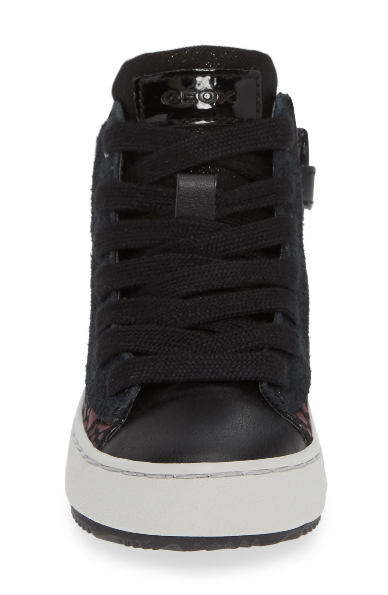 Kalispera High Top Sneaker,                             Alternate thumbnail 4, color,                             BLACK