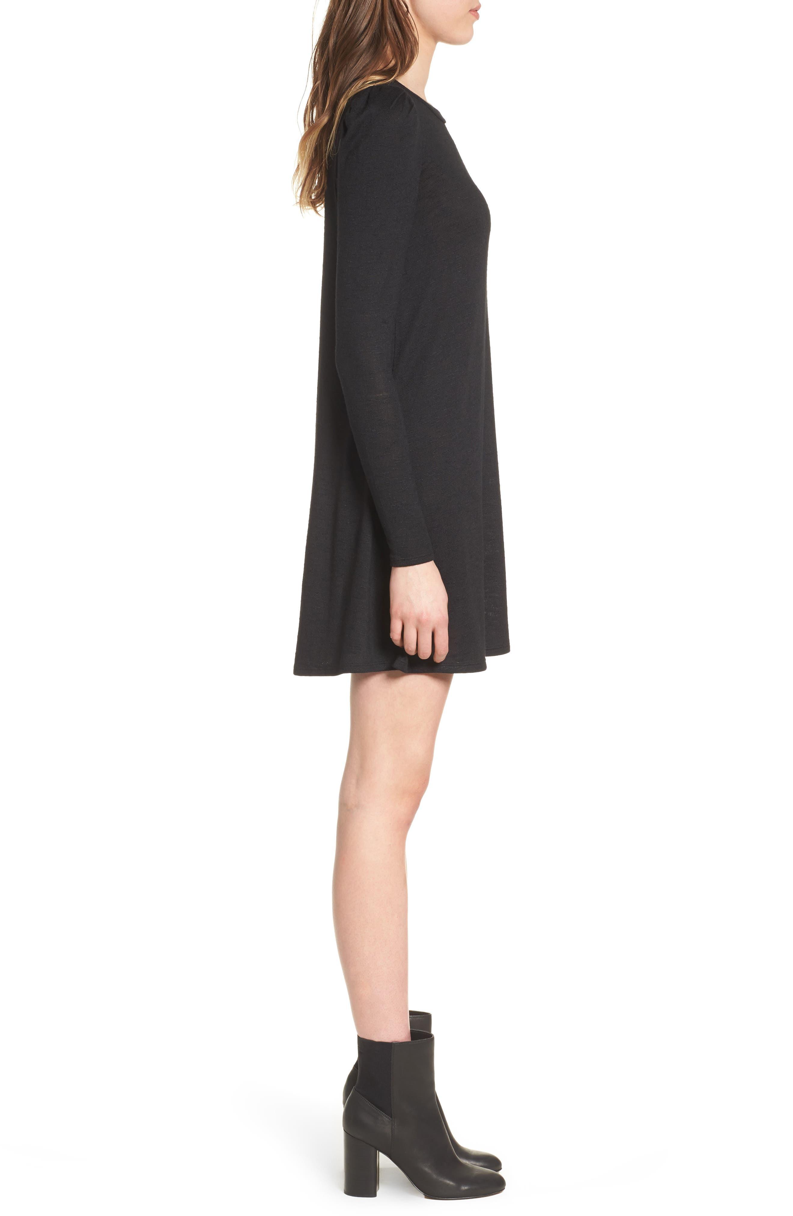 Knit Puff Shoulder Dress,                             Alternate thumbnail 5, color,
