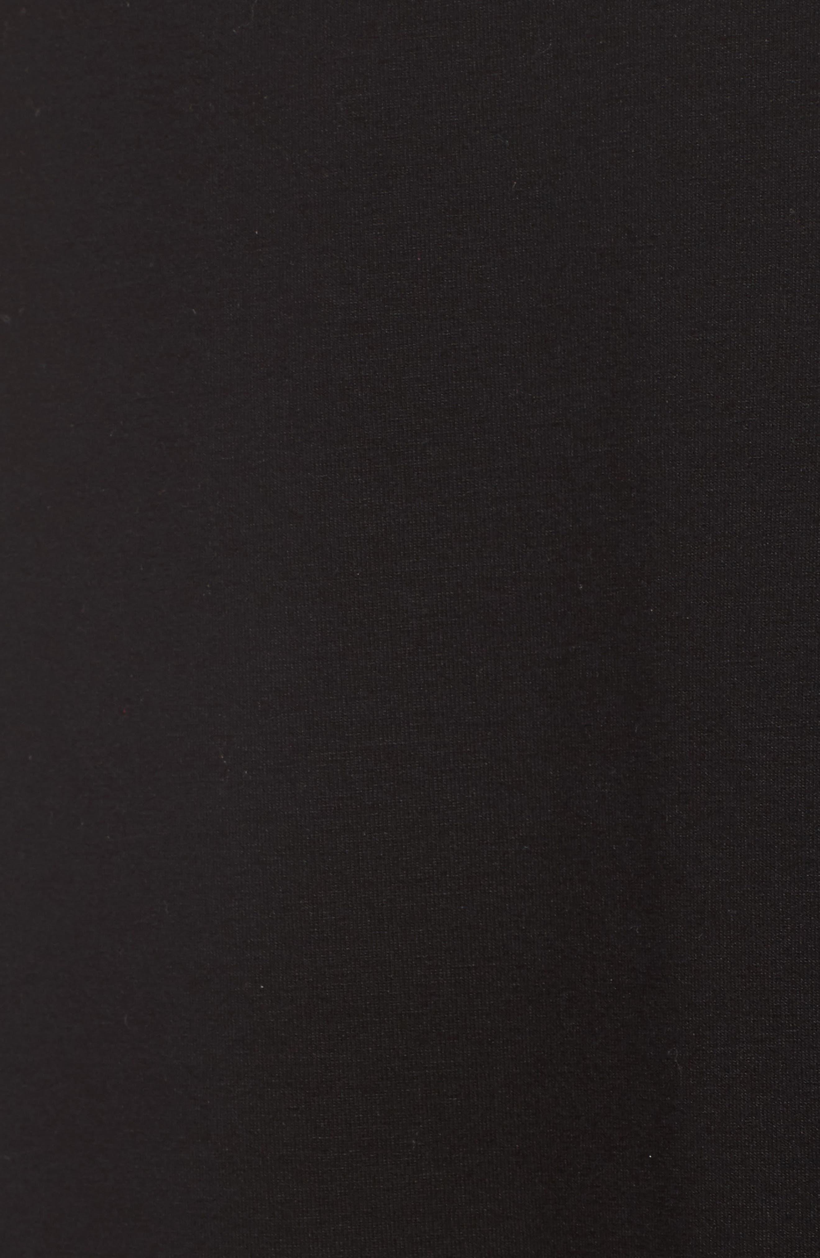 Faux Wrap Jersey Skirt,                             Alternate thumbnail 5, color,                             001