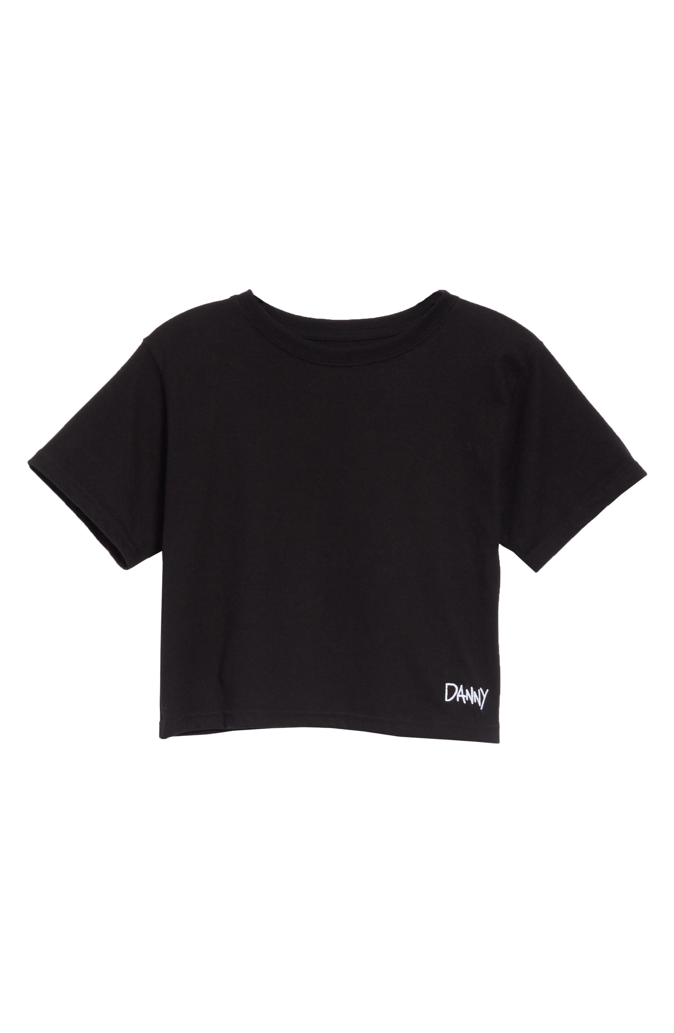 x Paramount Grease Danny Crop Top,                             Alternate thumbnail 6, color,                             DANNY BLACK