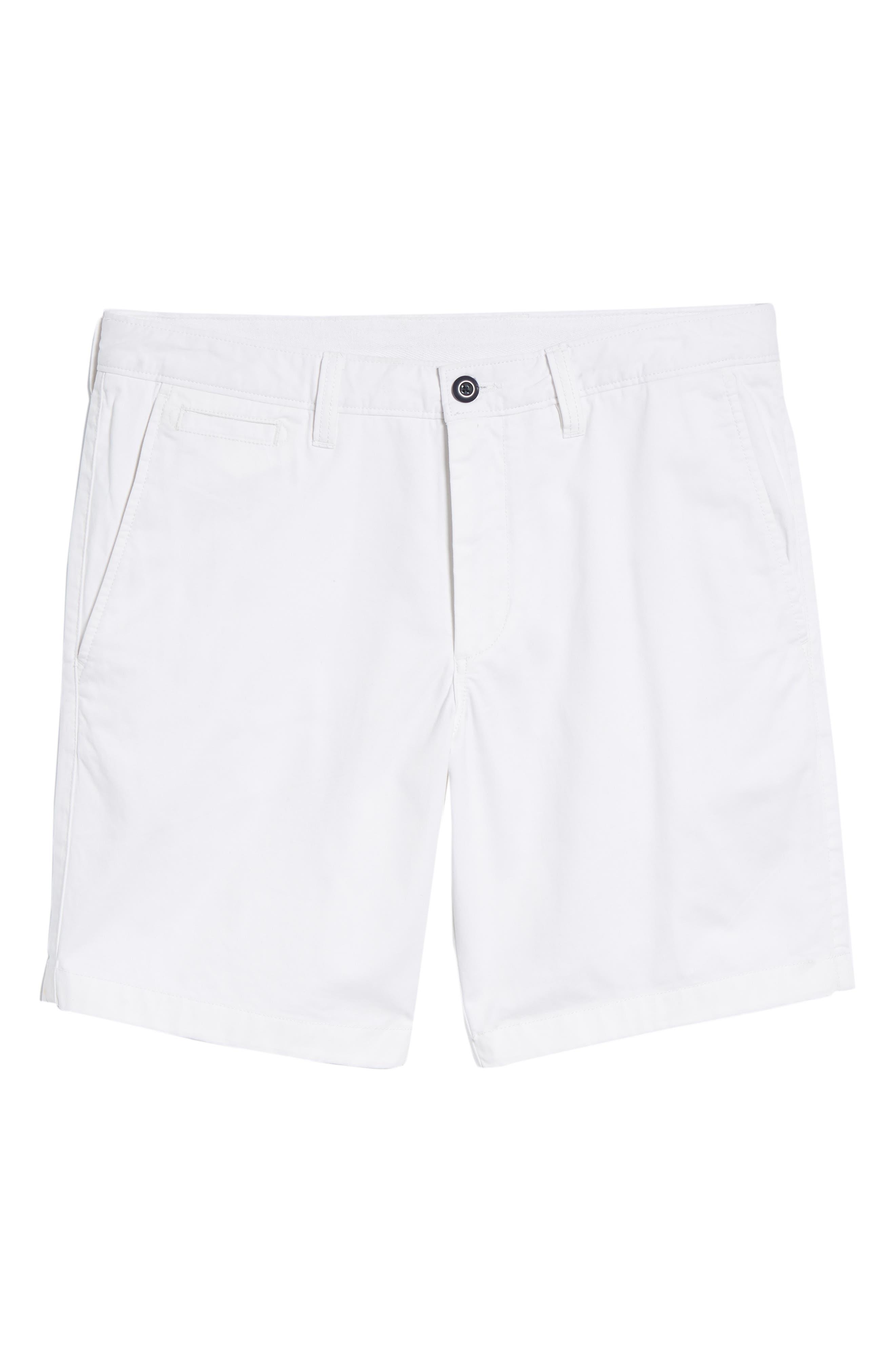 Ballard Slim Fit Stretch Chino 9-Inch Shorts,                             Alternate thumbnail 6, color,                             WHITE