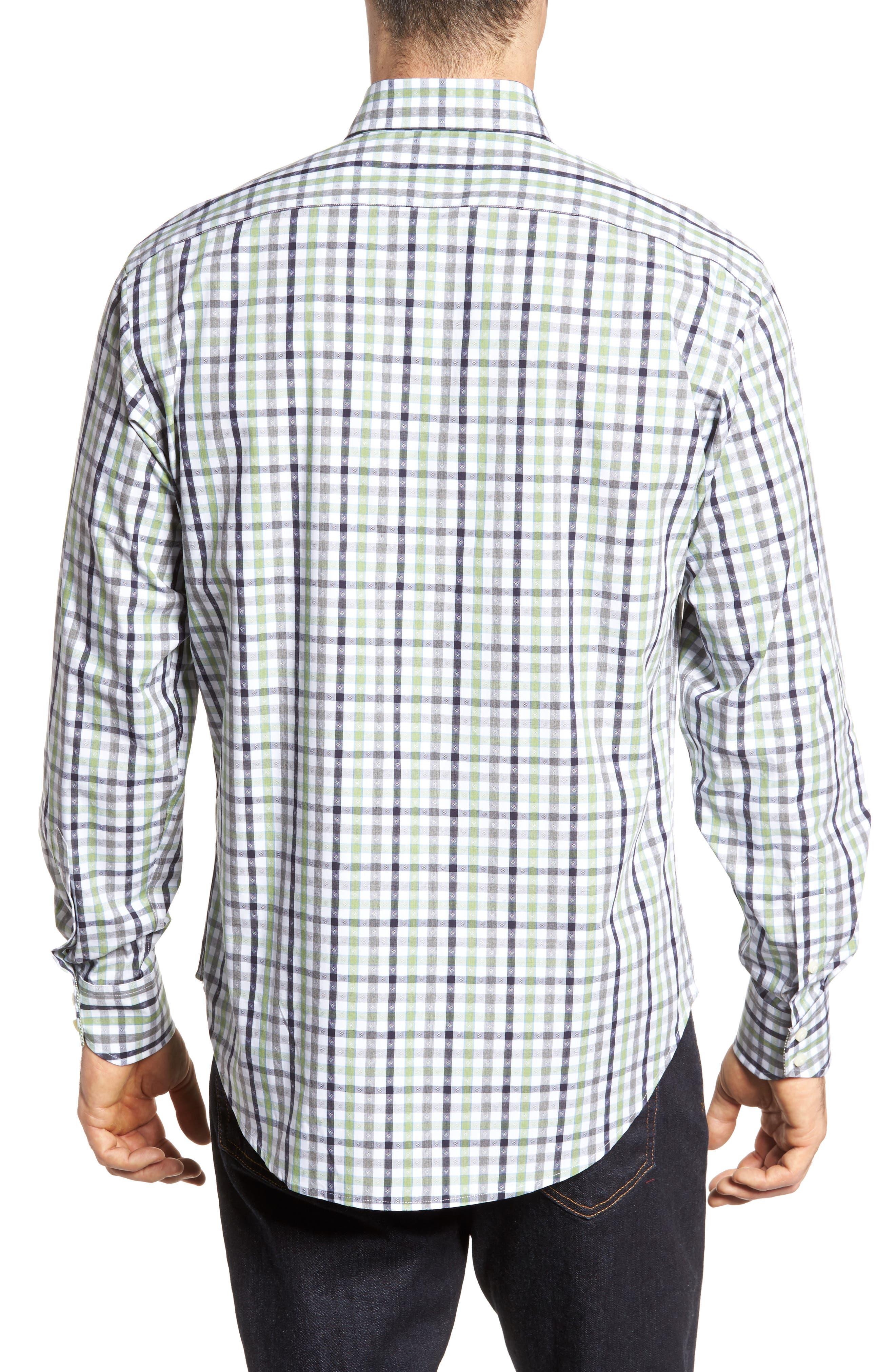 Plaid Sport Shirt,                             Alternate thumbnail 2, color,                             300
