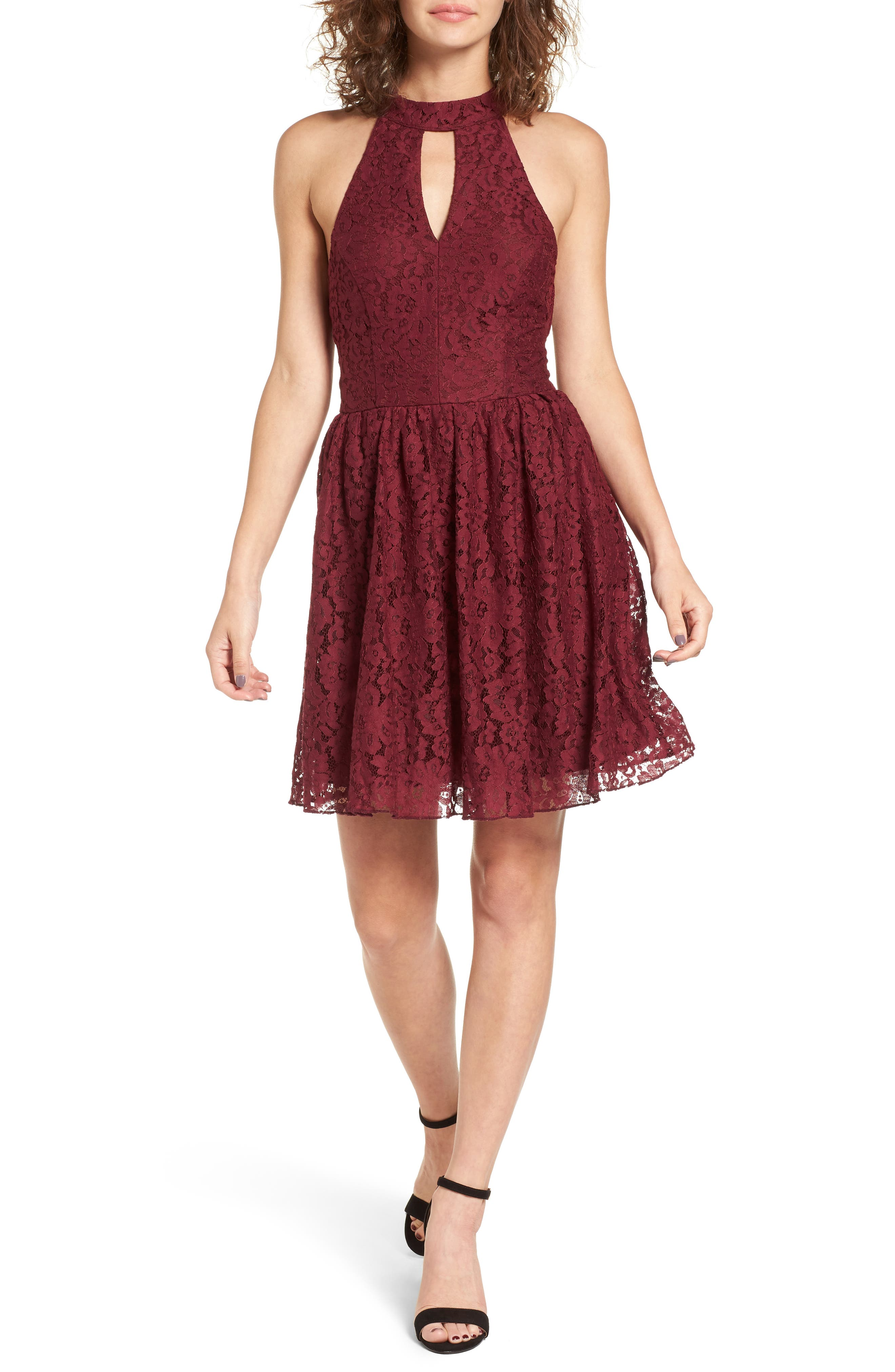 Gigi Lace Fit & Flare Dress,                             Main thumbnail 2, color,