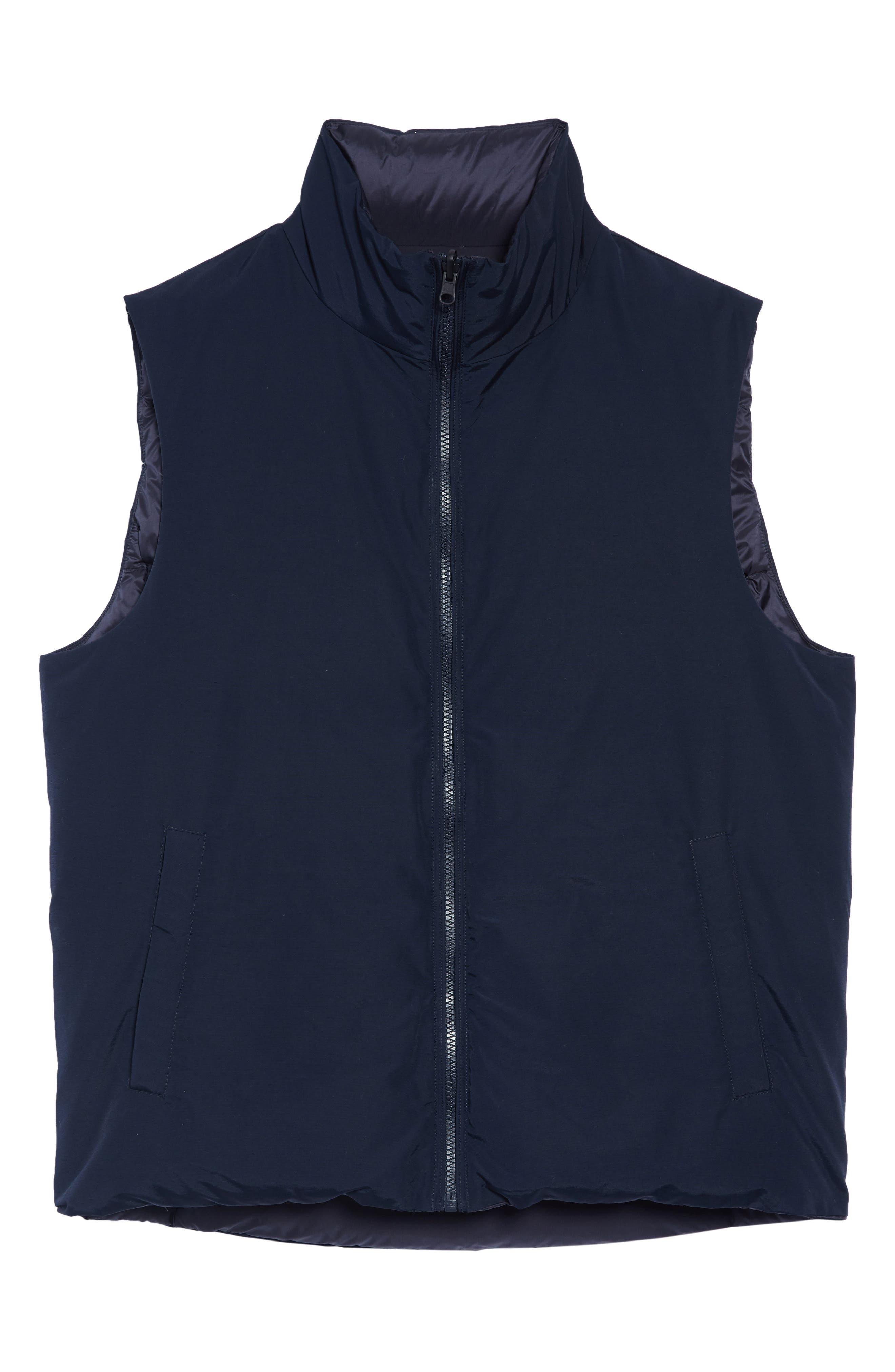 Reversible Down Regular Fit Vest,                             Alternate thumbnail 6, color,                             MELTON BLUE