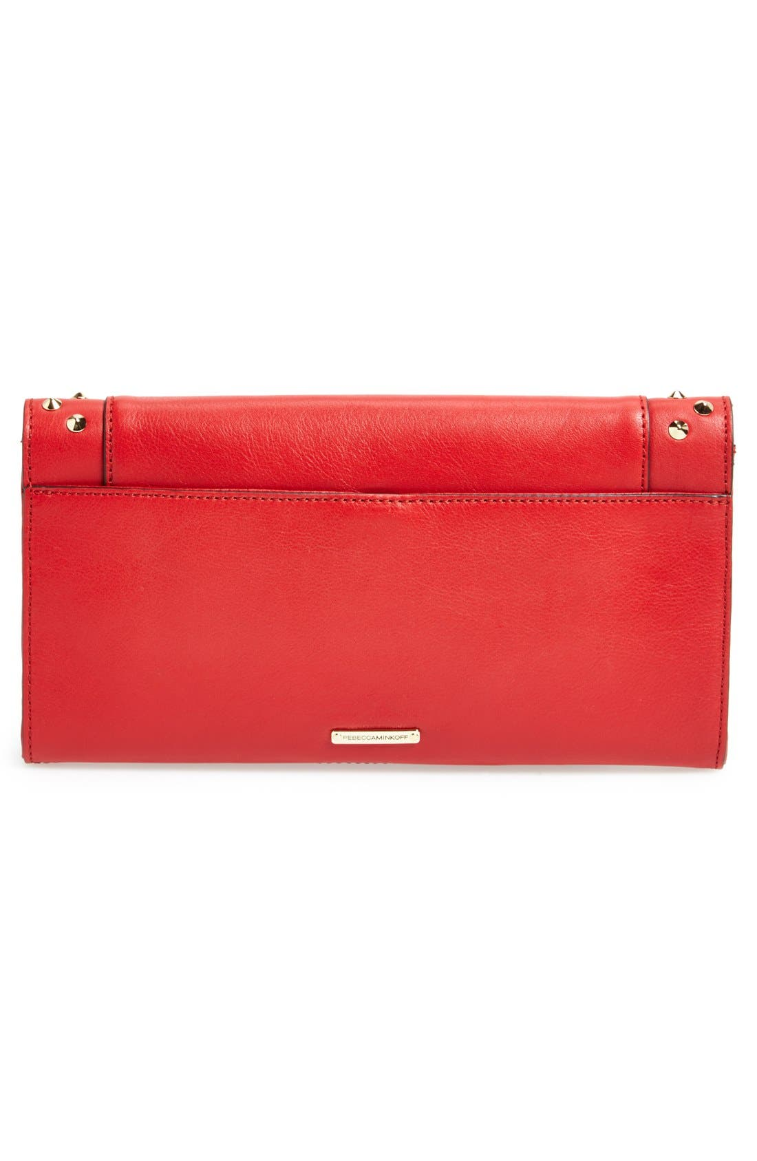 REBECCA MINKOFF,                             'Amorous' Clutch with Studs,                             Alternate thumbnail 4, color,                             600