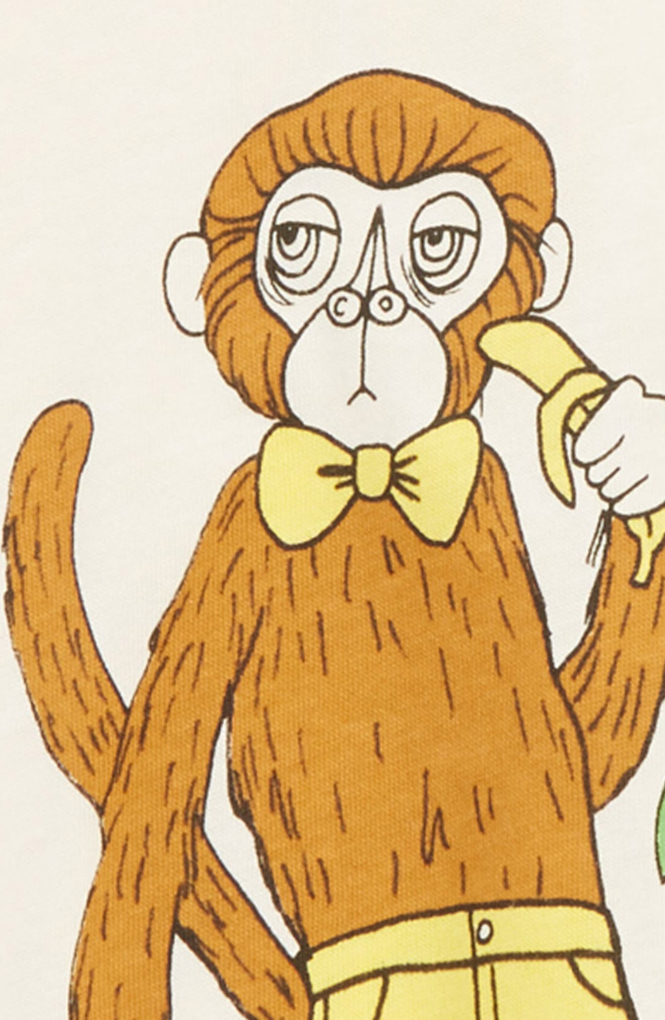 MINI RODINI,                             Cool Monkey Tee,                             Alternate thumbnail 2, color,                             OFFWHITE