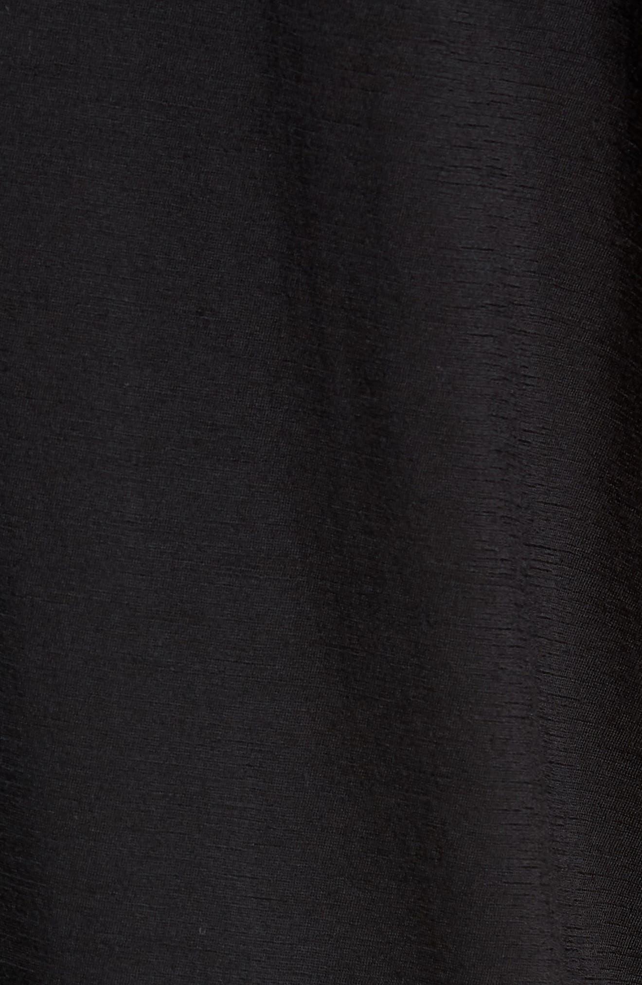Swedish Merino Wool T-Shirt,                             Alternate thumbnail 5, color,                             BLACK