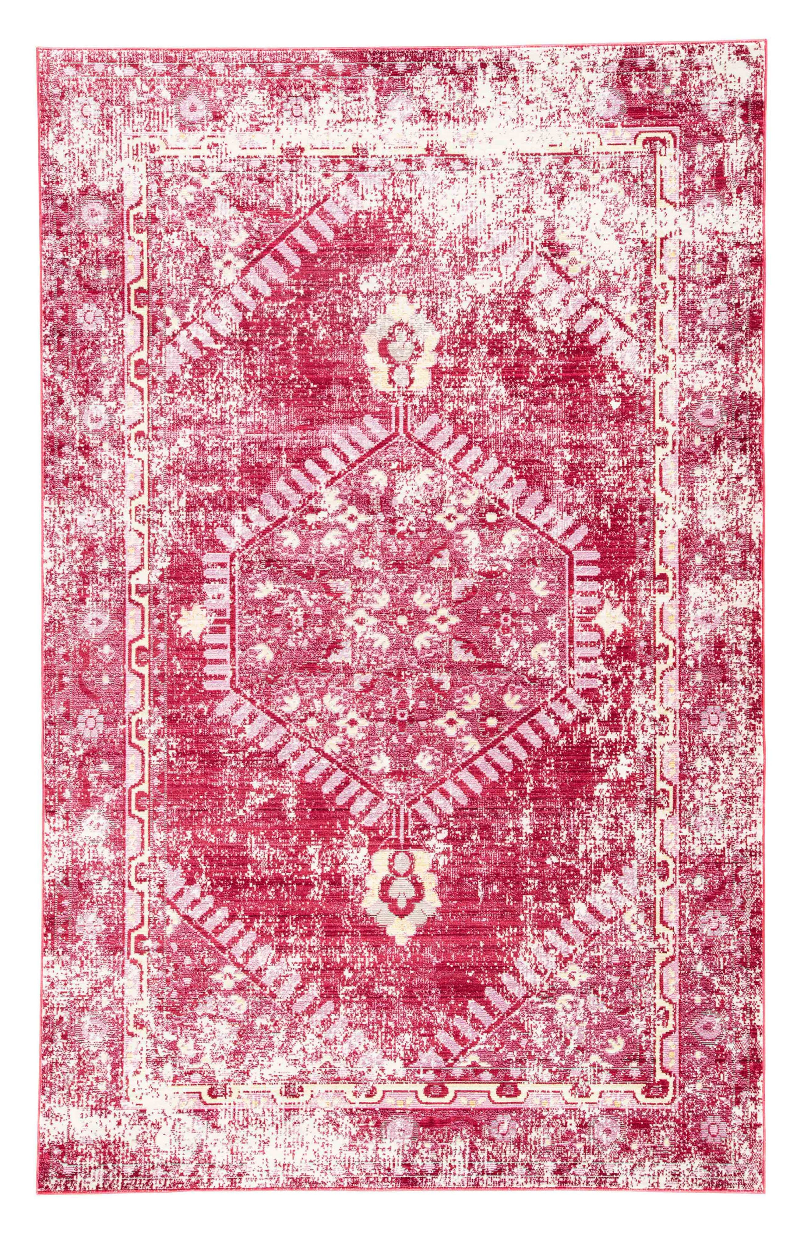 Persia Lux Rug, Main, color, DISTRESSED RED