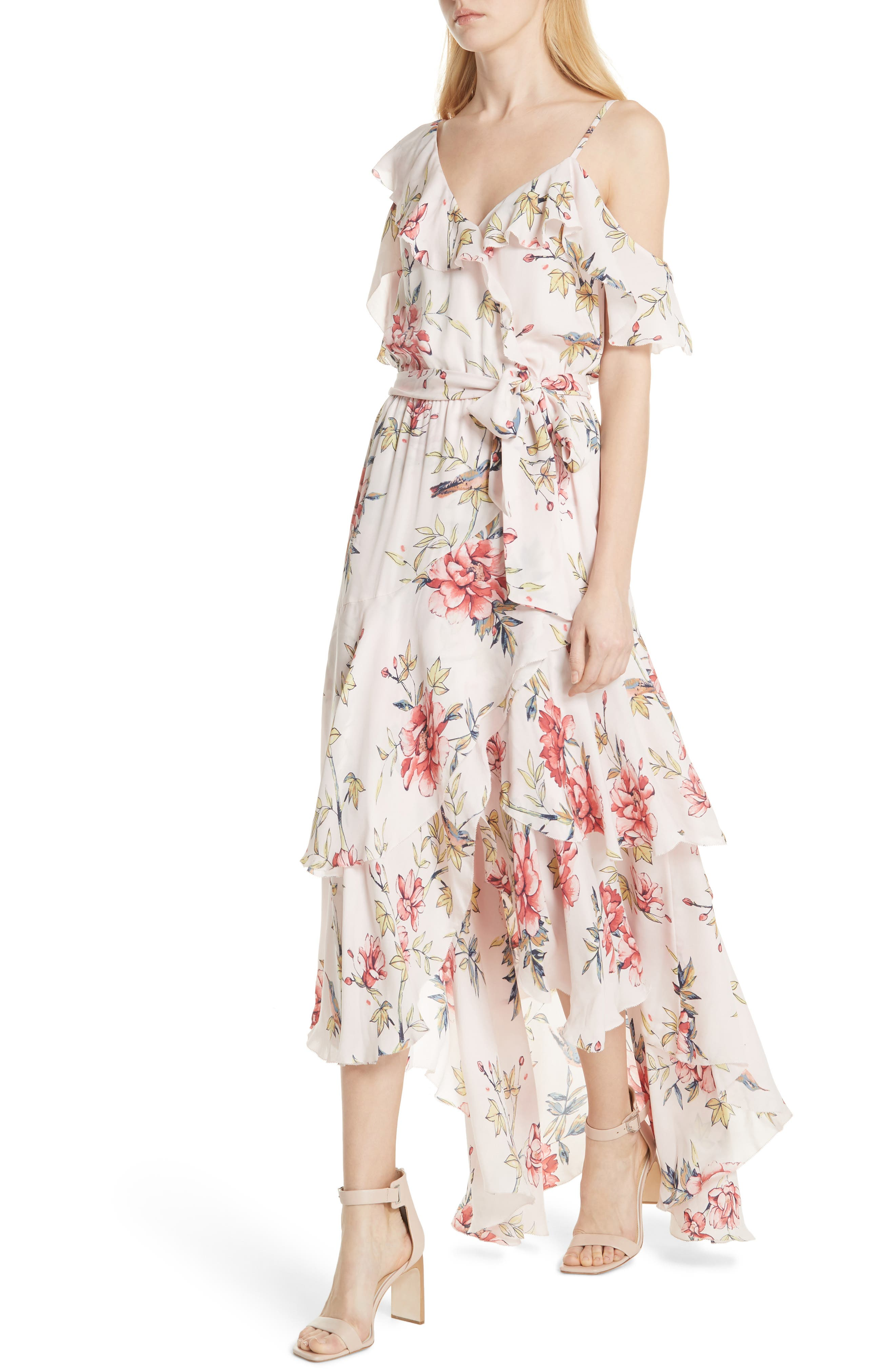Cristeta Floral Silk Maxi Dress,                             Alternate thumbnail 4, color,                             680