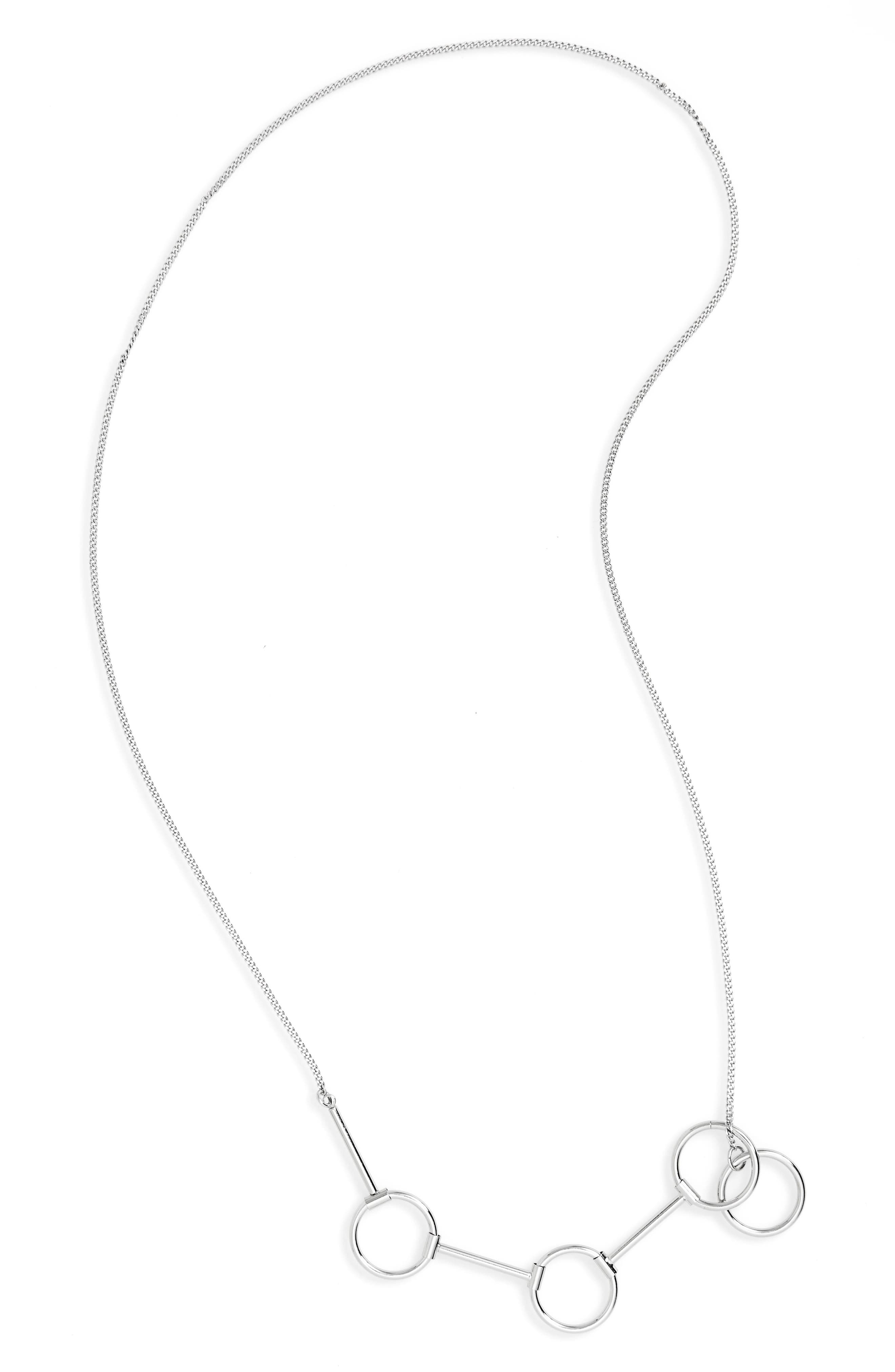 Circle Link Chain Necklace,                             Main thumbnail 1, color,                             000