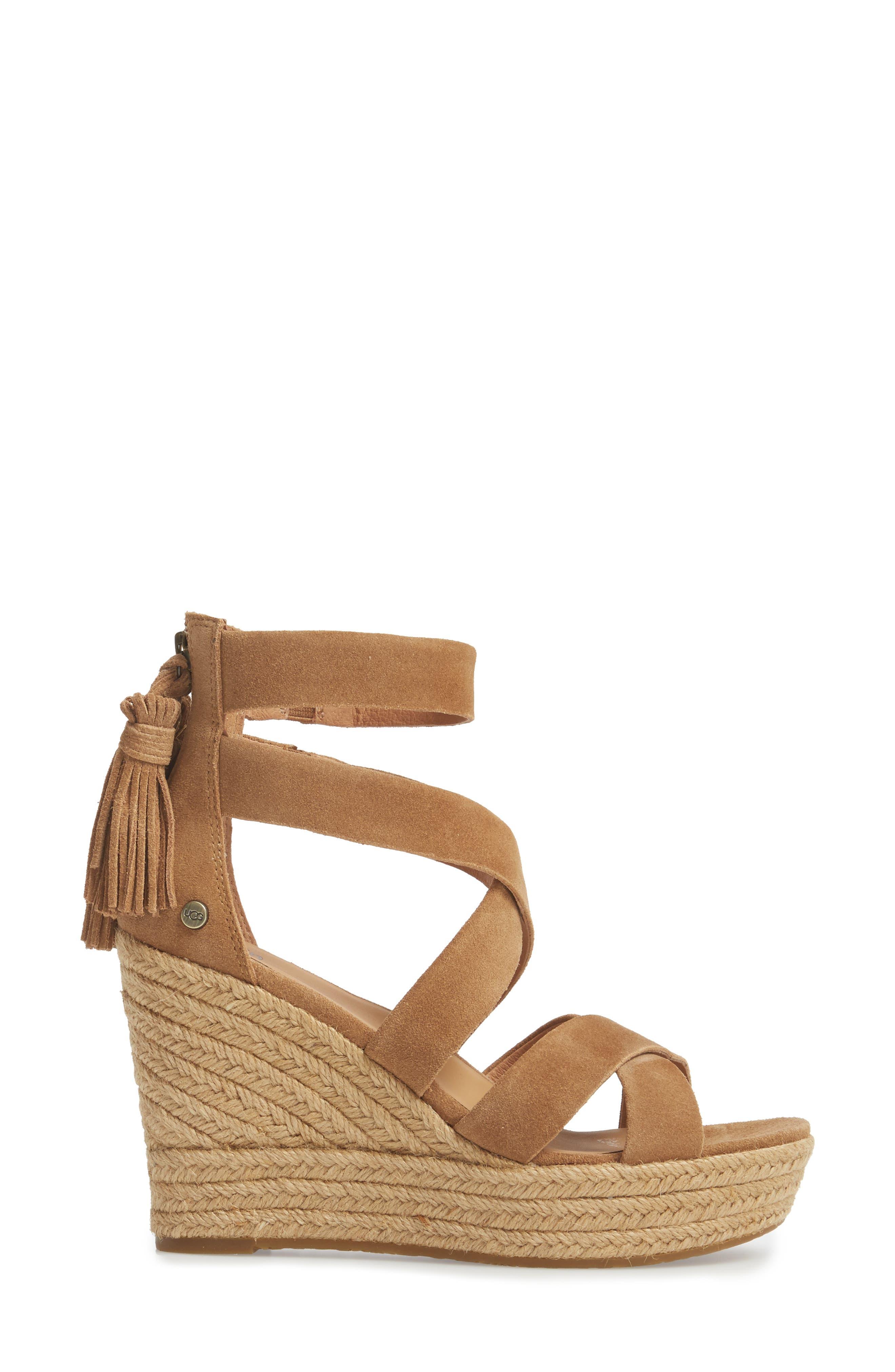 Raquel Platform Wedge Sandal,                             Alternate thumbnail 6, color,