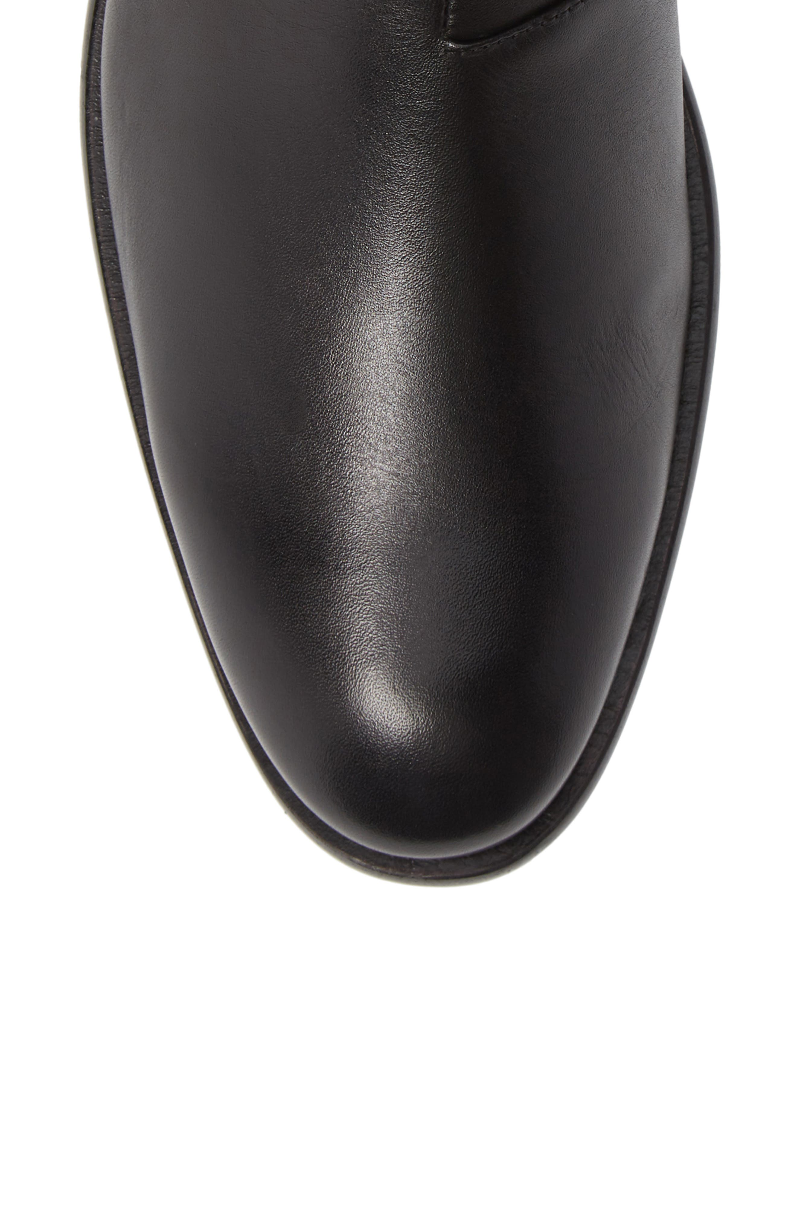 NYC Back Zip Boot,                             Alternate thumbnail 5, color,                             BLACK LEATHER