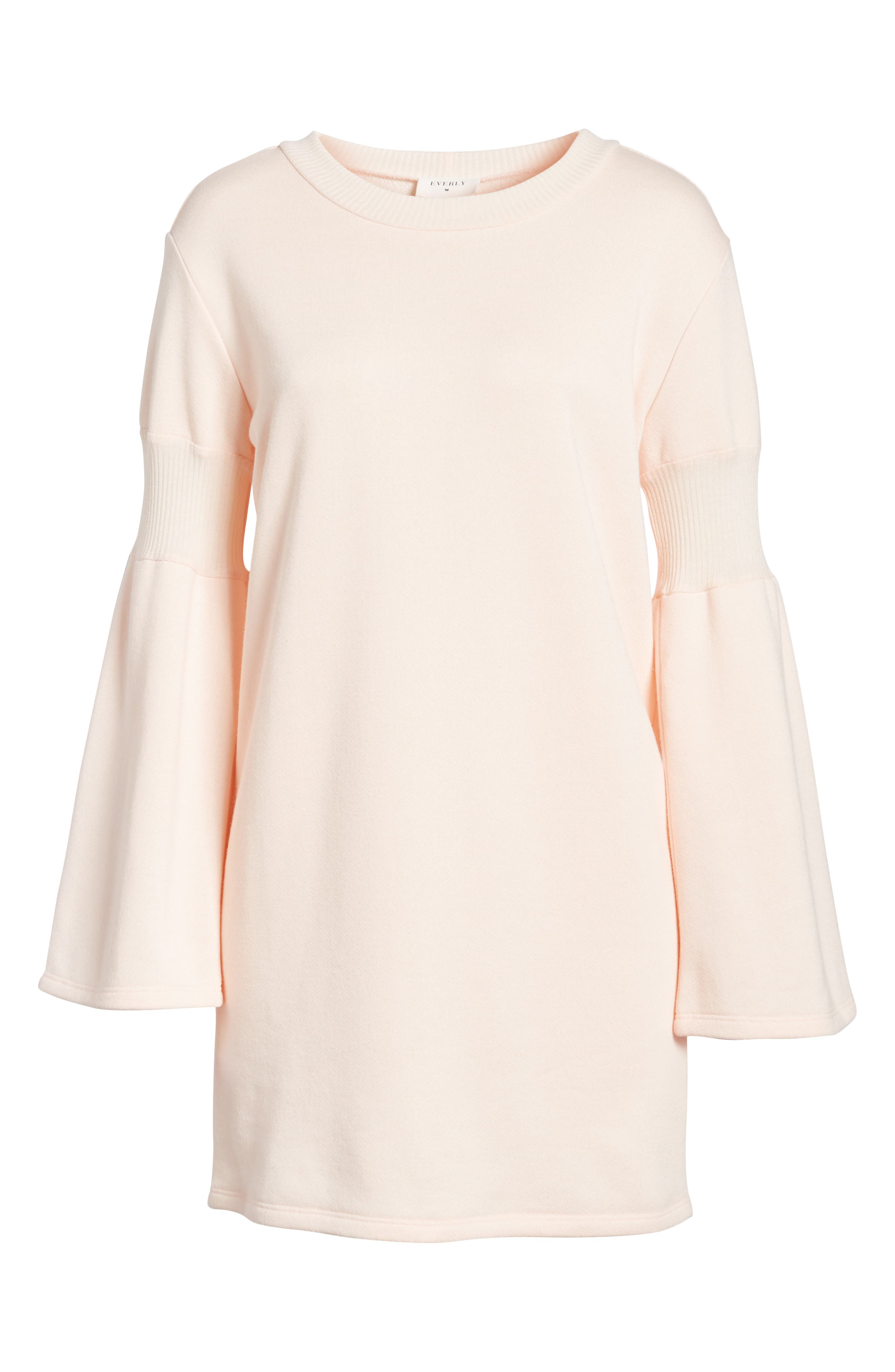 Bell Sleeve Sweatshirt Dress,                             Alternate thumbnail 12, color,