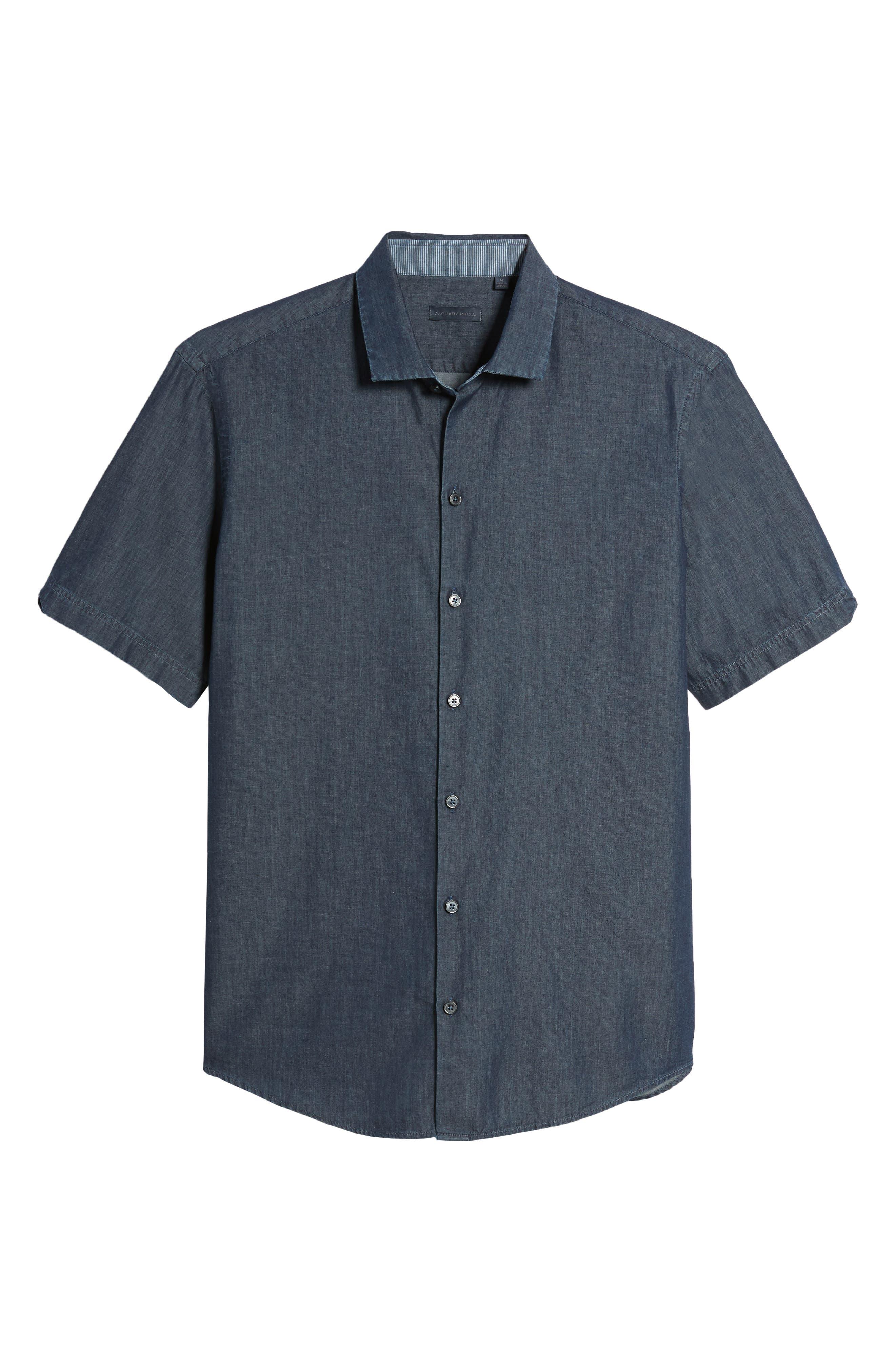 ZACHARY PRELL,                             Manolis Denim Sport Shirt,                             Alternate thumbnail 6, color,                             471