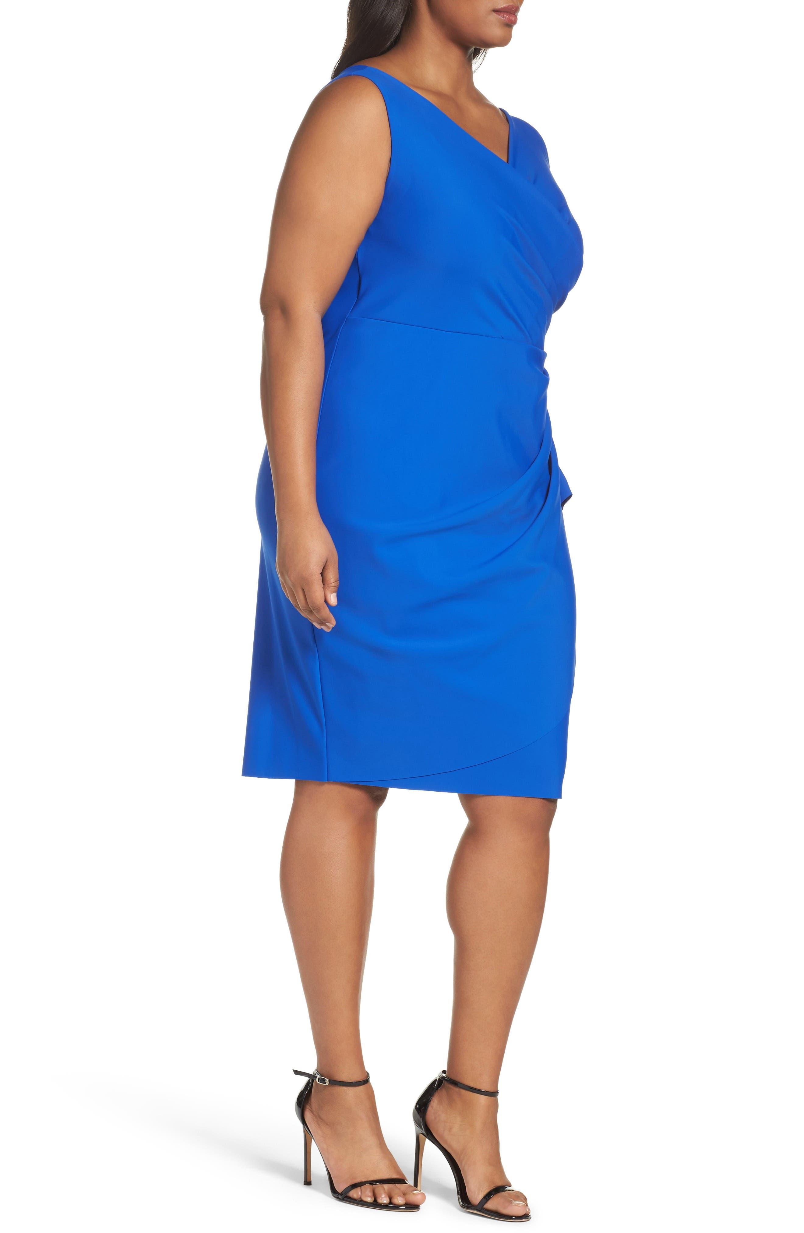 Embellished Surplice Sheath Dress,                             Alternate thumbnail 18, color,