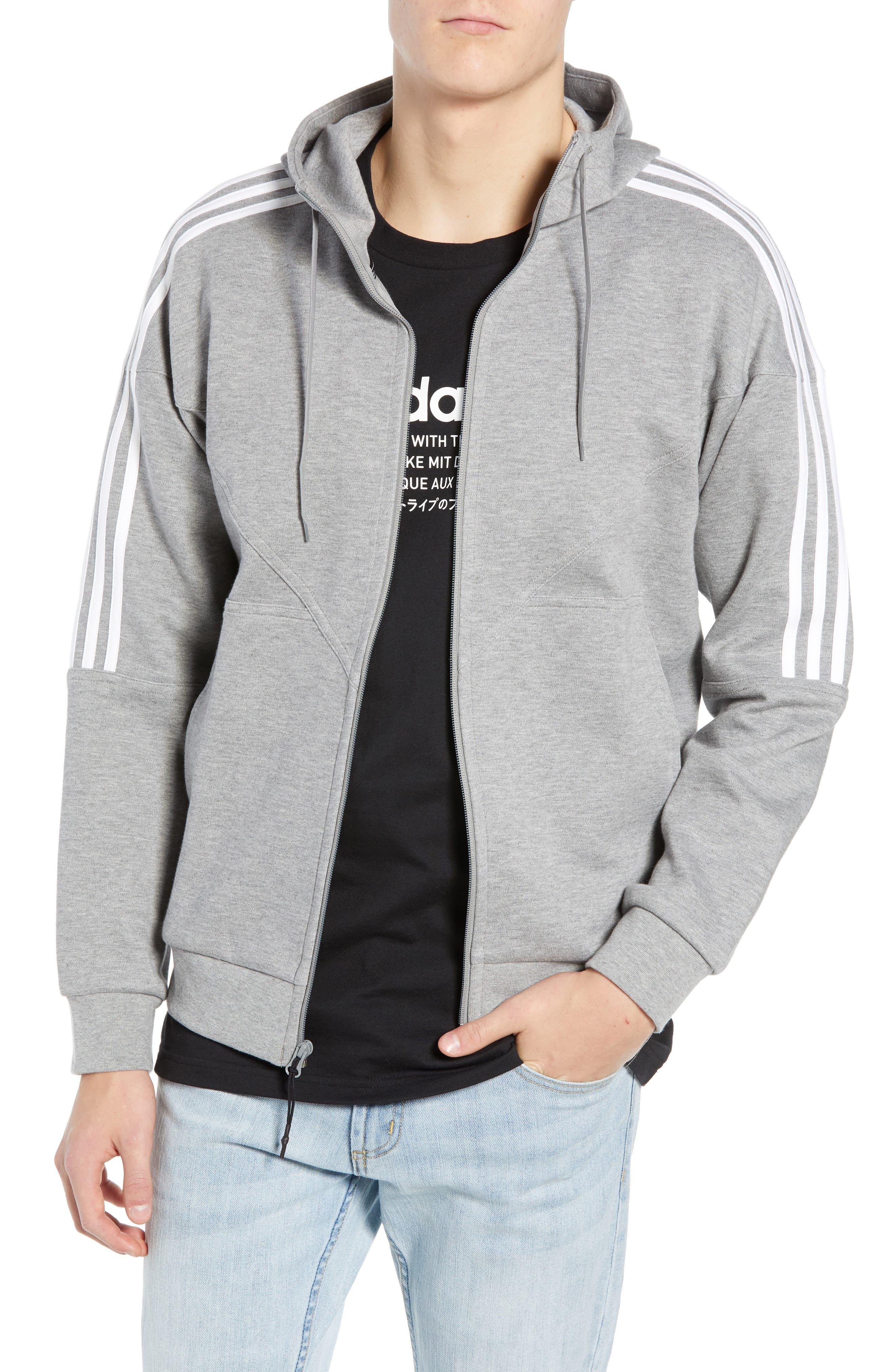 adidas NMD Zip Hoodie,                             Main thumbnail 1, color,                             MED GREY HEATHER