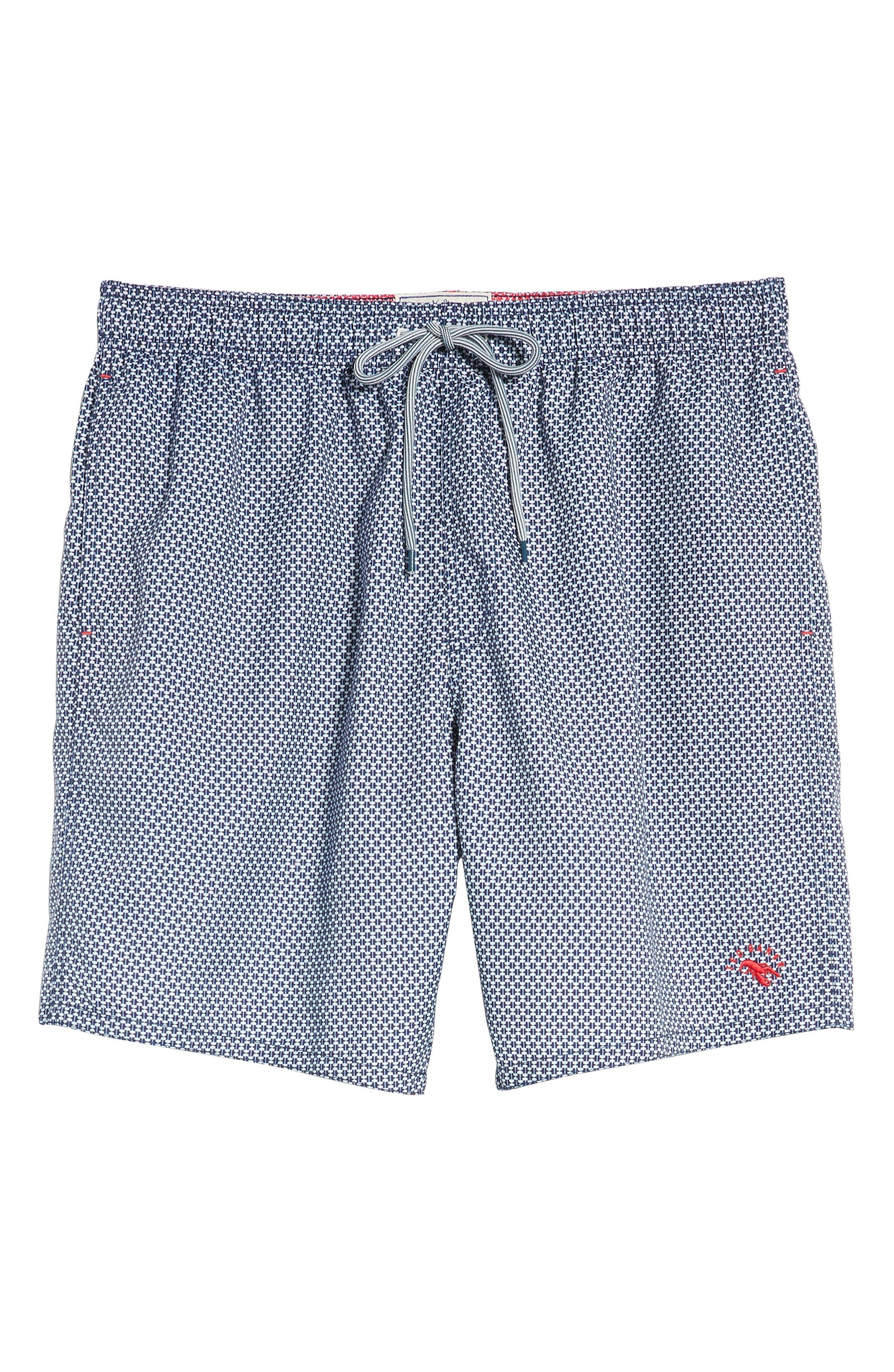 Larkman Geo Print Swim Shorts,                             Alternate thumbnail 12, color,