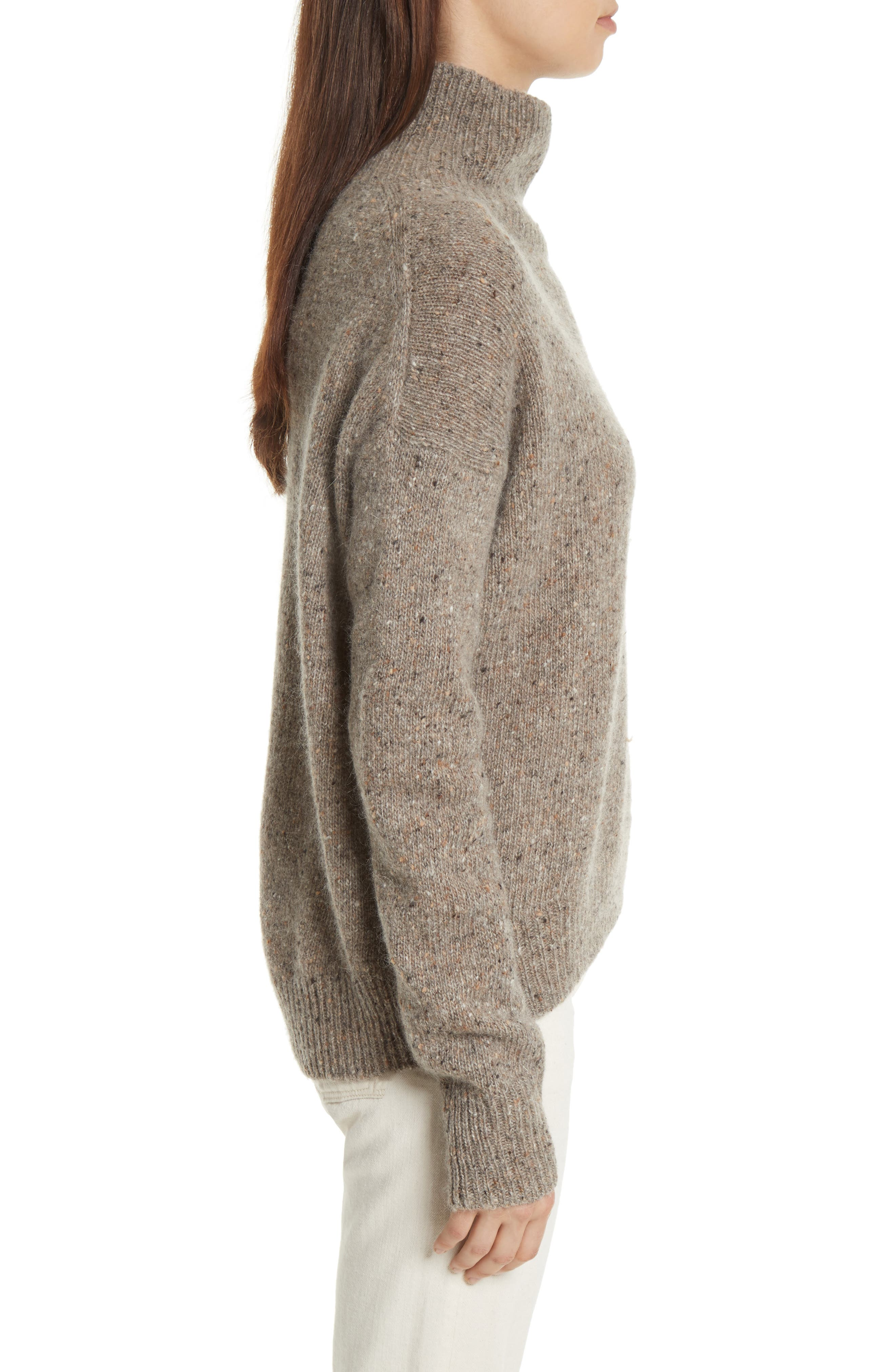 Cashmere Turtleneck Sweater,                             Alternate thumbnail 6, color,