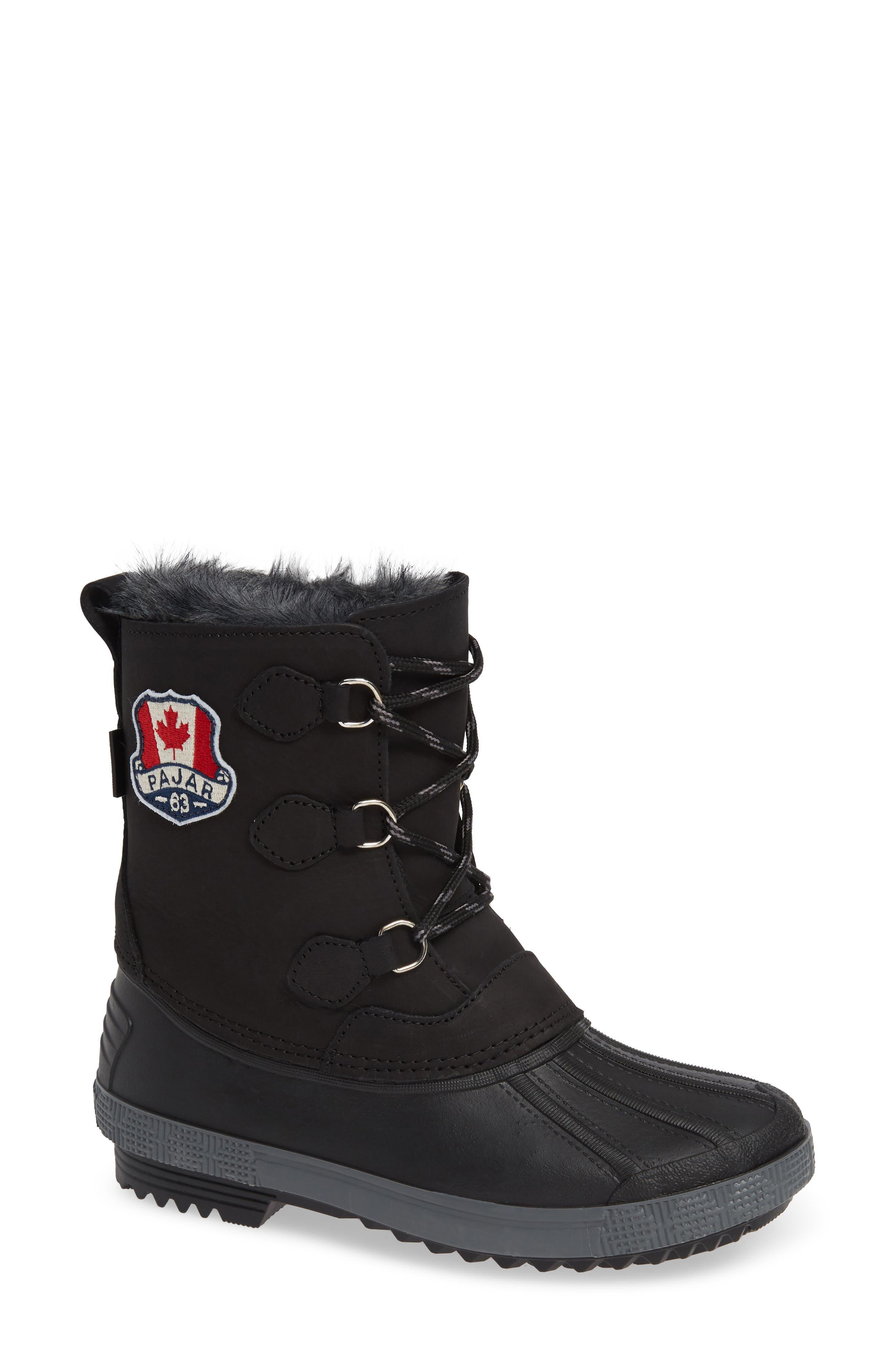 Cali Waterproof Insulated Boot,                             Main thumbnail 1, color,                             BROWN/ BLACK