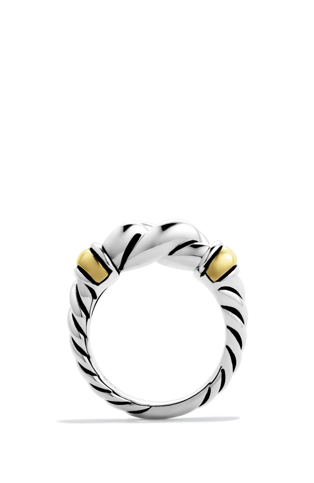 DAVID YURMAN,                             'Metro' Ring with Gold,                             Alternate thumbnail 4, color,                             040