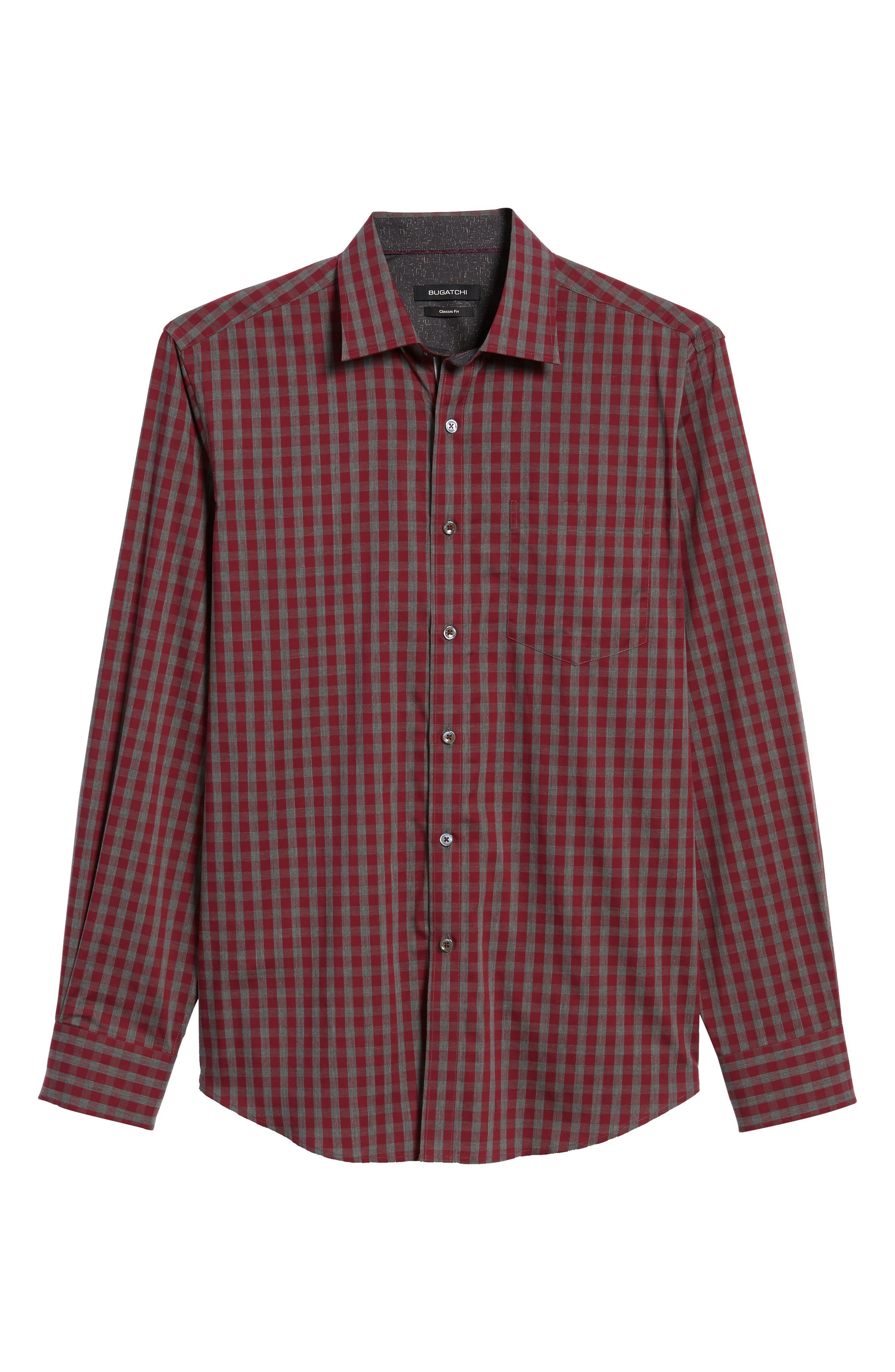 Classic Fit Check Sport Shirt,                             Alternate thumbnail 6, color,                             612