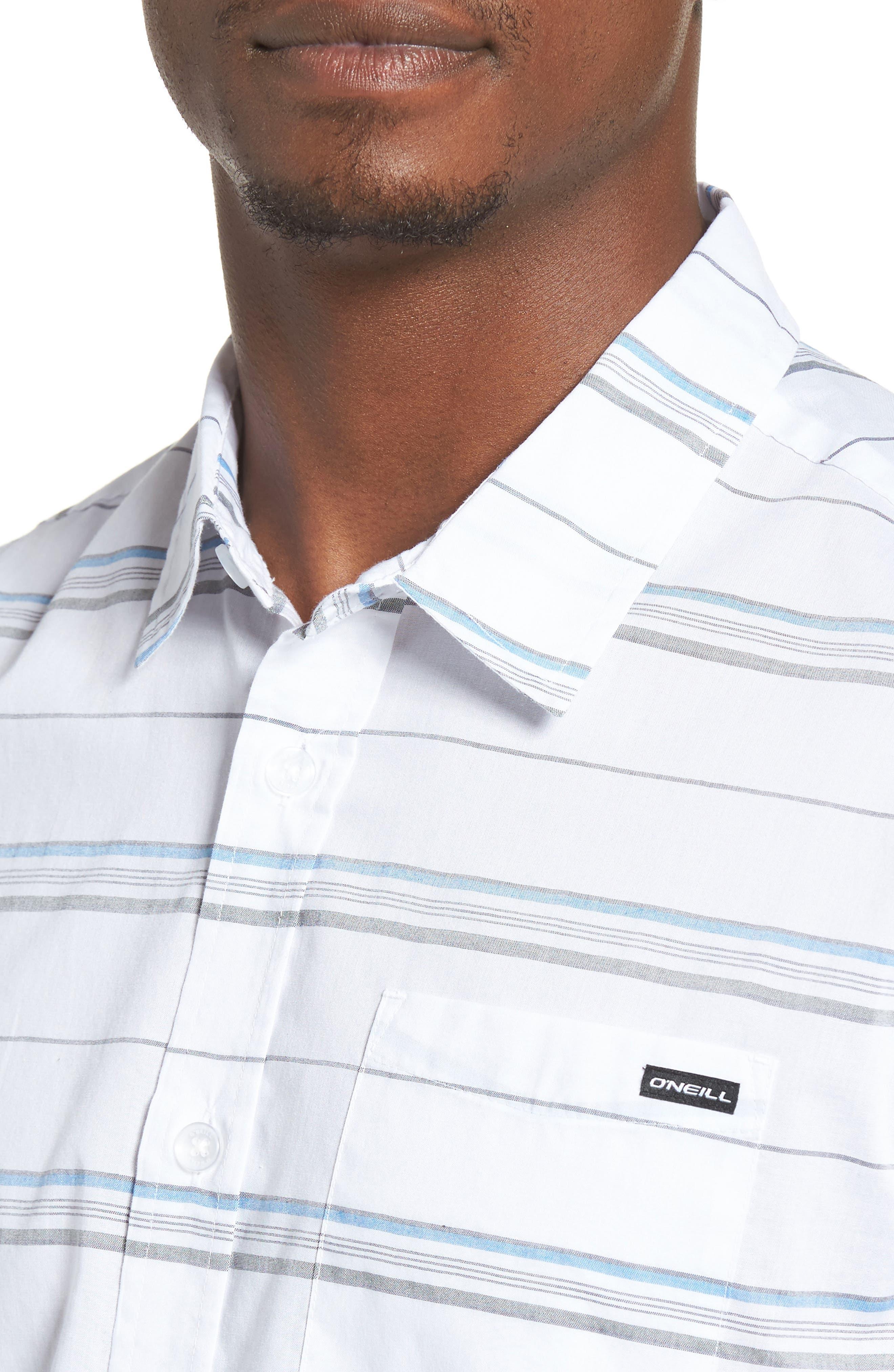 Striped Woven Shirt,                             Alternate thumbnail 12, color,