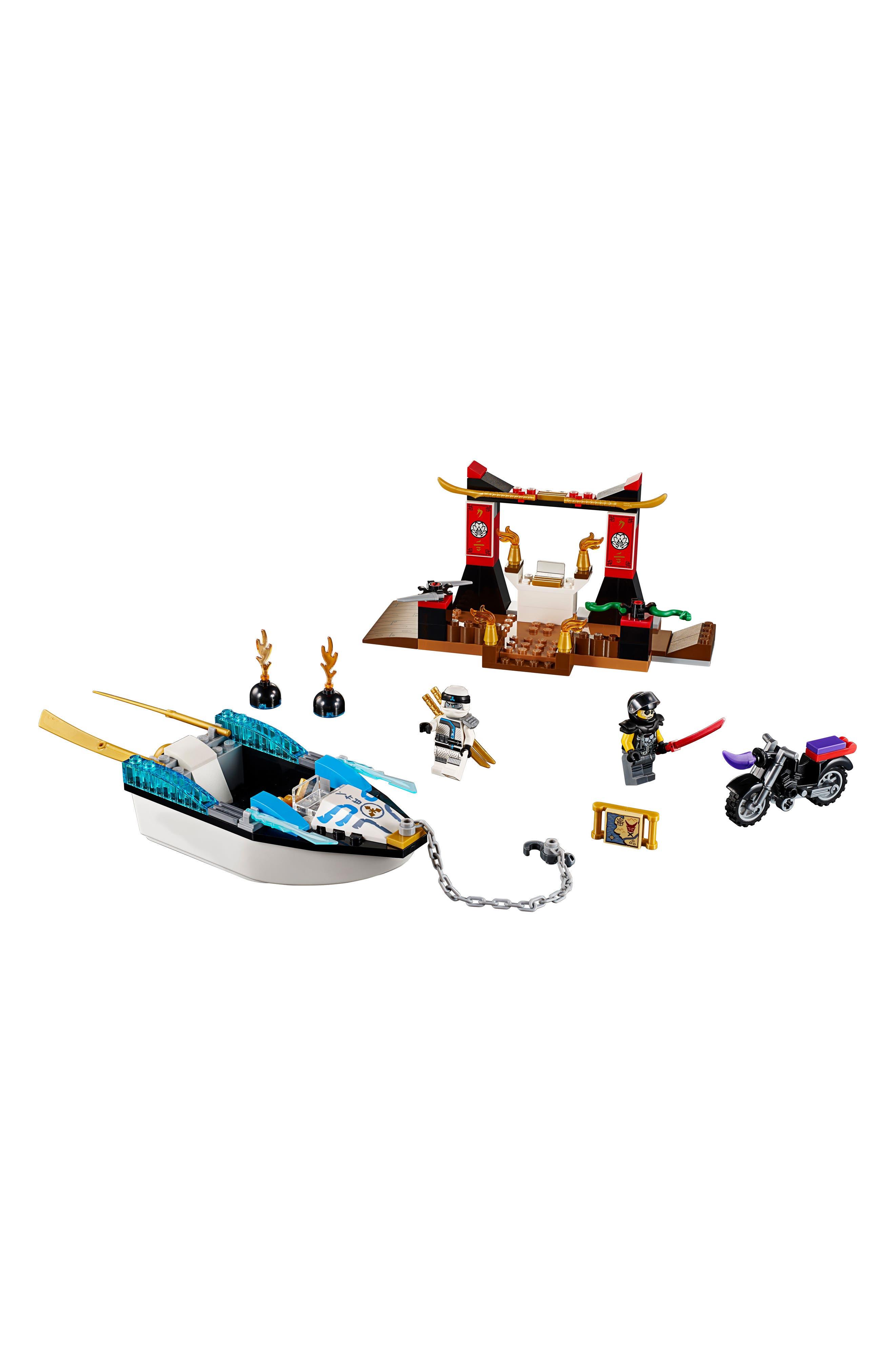 Juniors Zane's Ninja Boat Pursuit Play Set - 10755,                             Alternate thumbnail 2, color,                             001