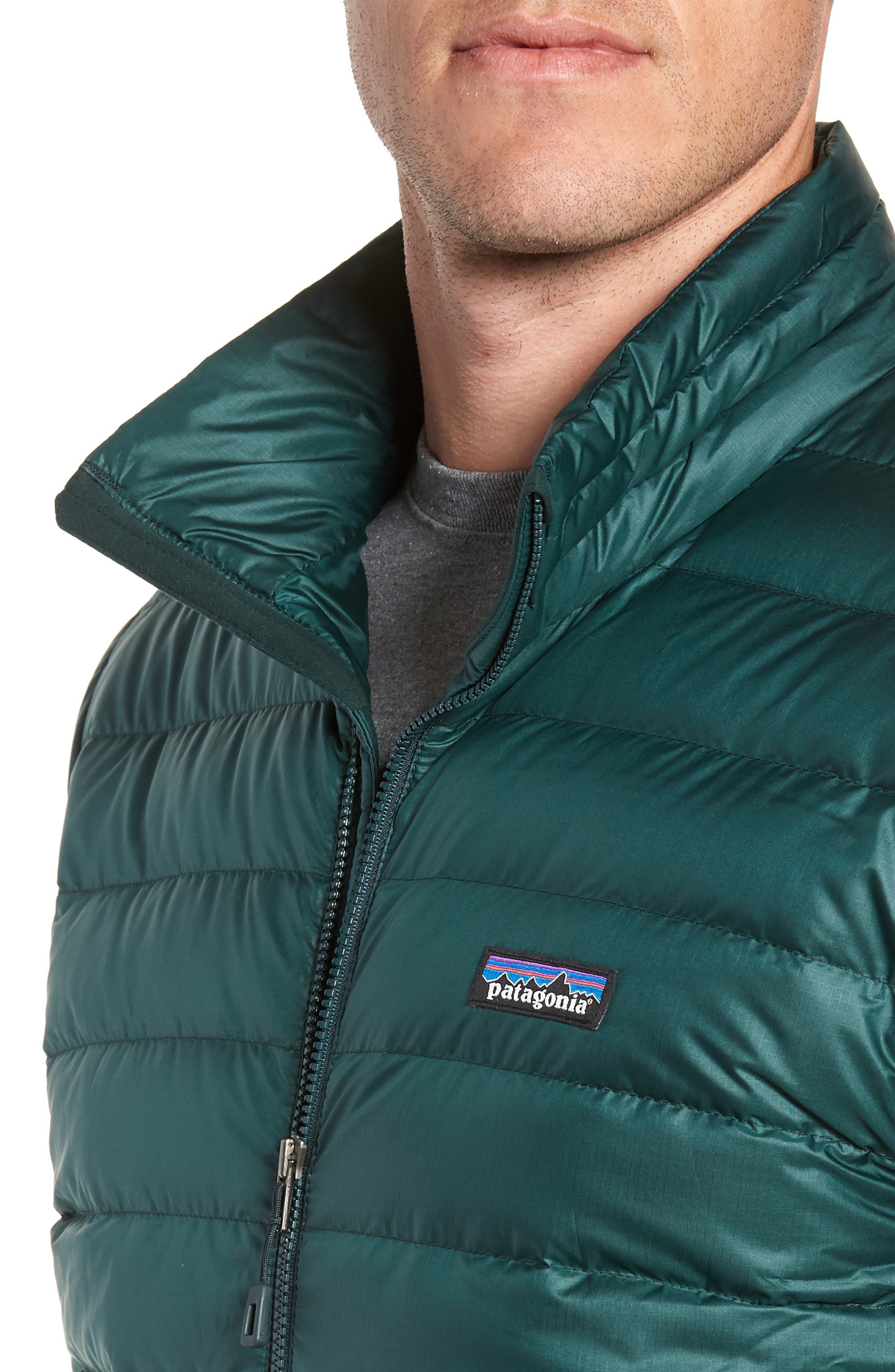 Water Repellent Down Jacket,                             Alternate thumbnail 4, color,                             MICRO GREEN