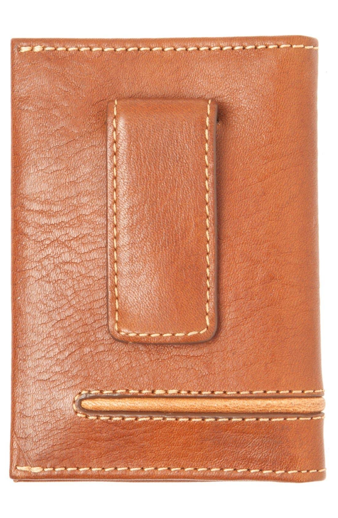 Leather Money Clip Card Case,                             Alternate thumbnail 4, color,                             200