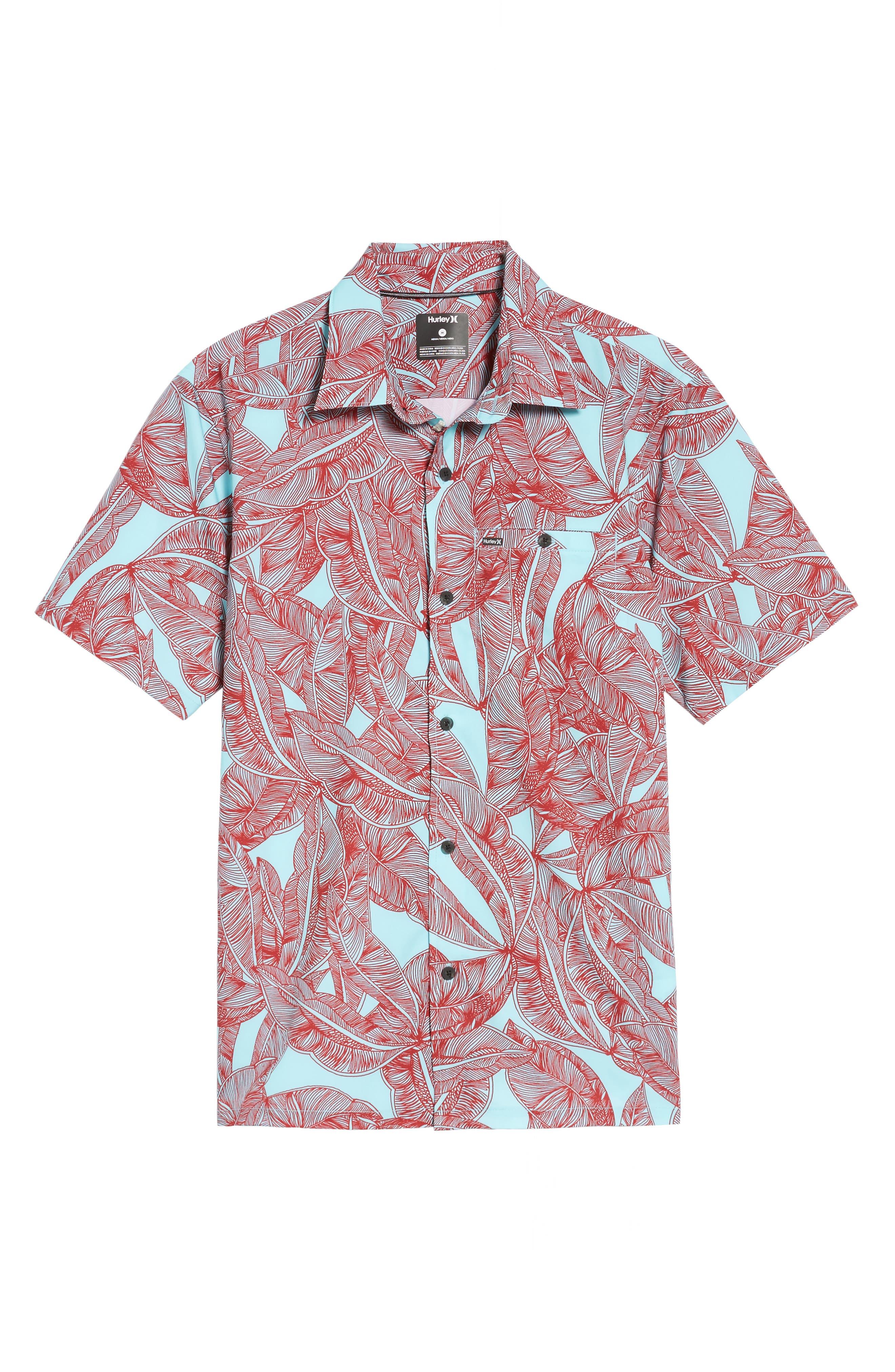 Print Woven Shirt,                             Alternate thumbnail 6, color,                             400