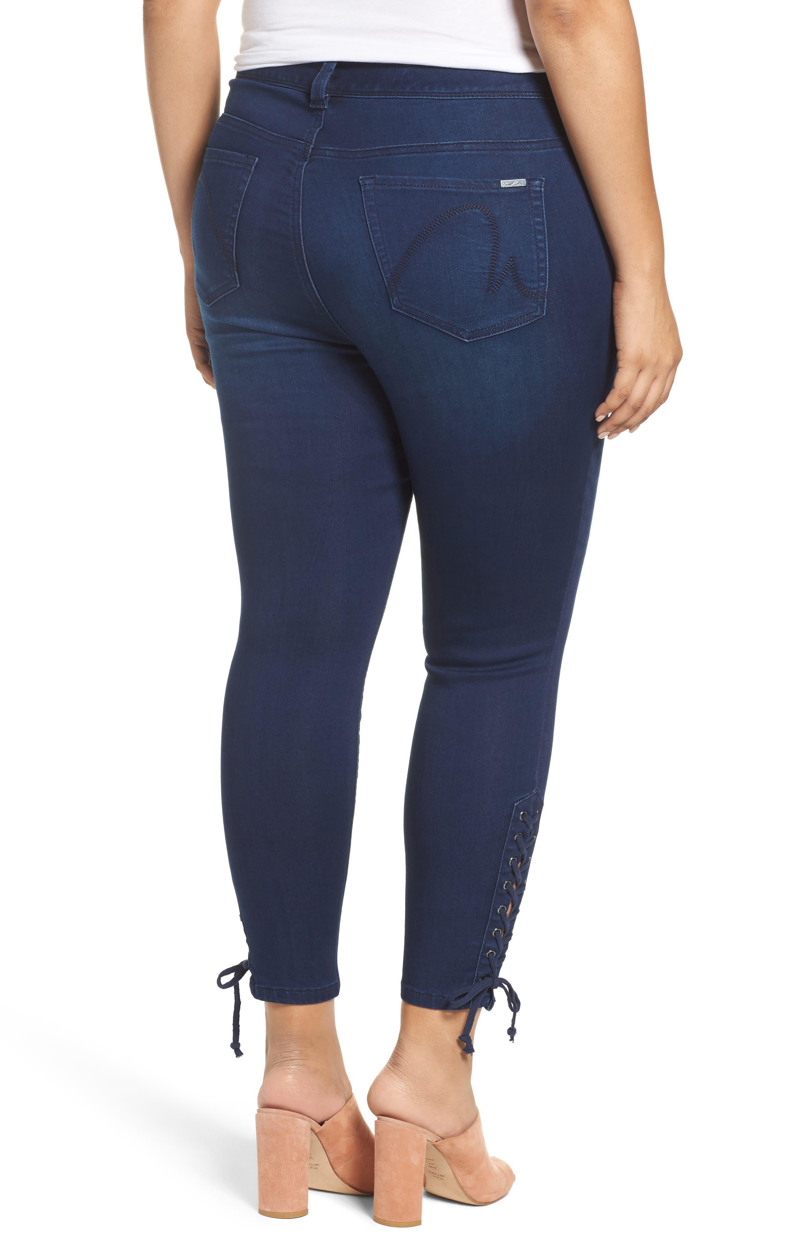 MELISSA MCCARTHY SEVEN7,                             Lace-Up Pencil Leg Jeans,                             Alternate thumbnail 2, color,                             405