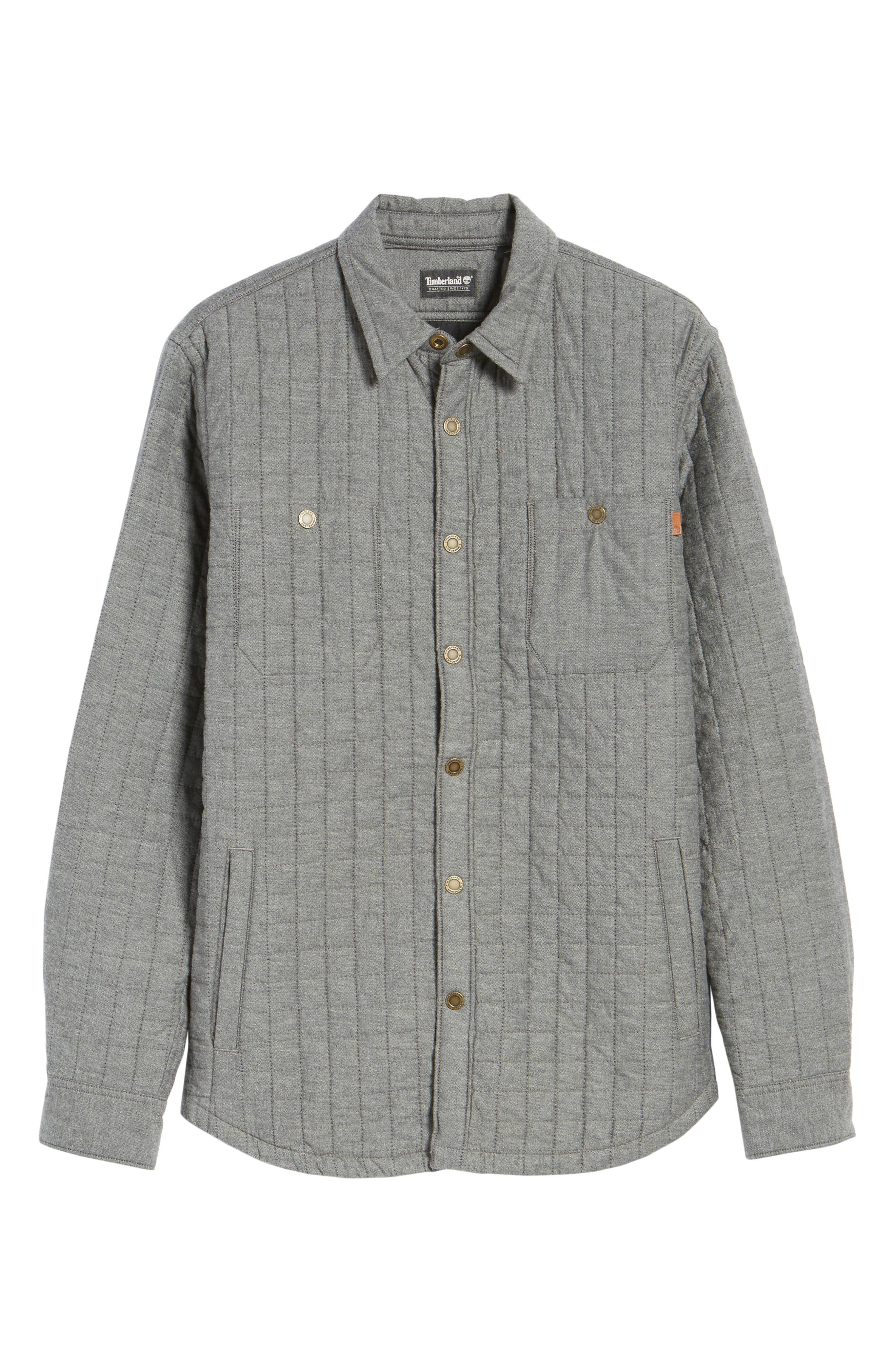 Gunstock River Lightweight Quilted Shirt Jacket,                             Alternate thumbnail 5, color,                             001